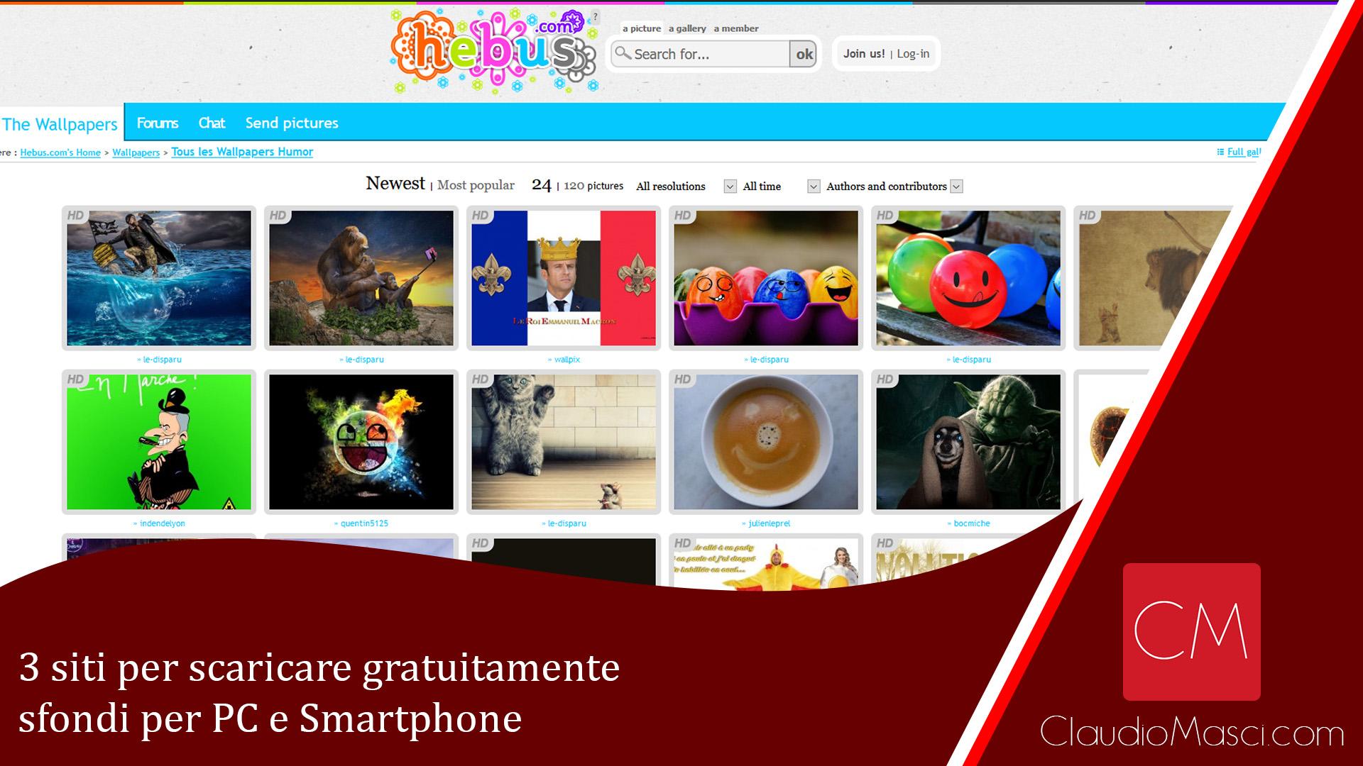 3 siti per scaricare gratuitamente sfondi per PC e Smartphone
