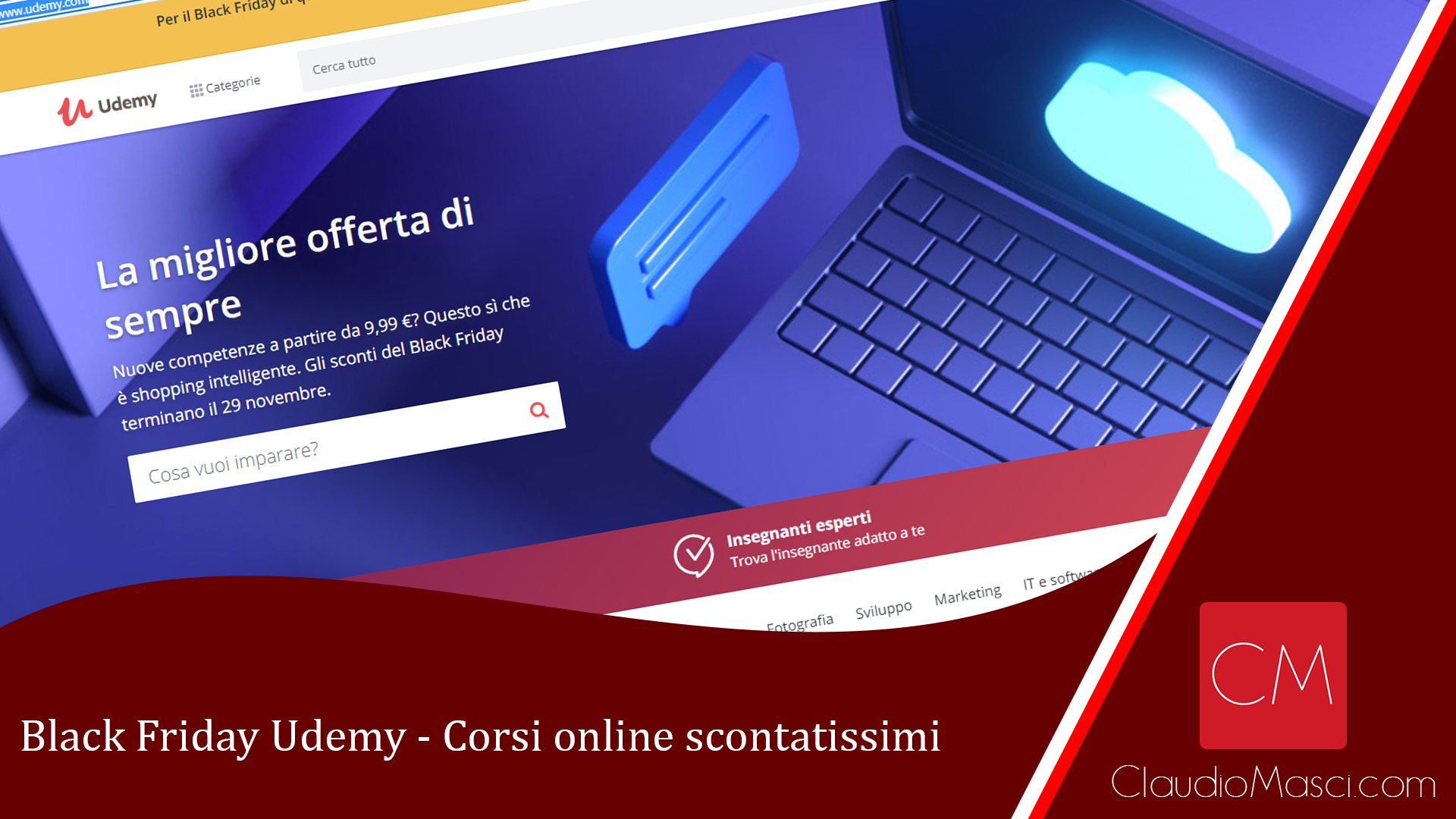 Black Friday Udemy – Corsi online scontatissimi