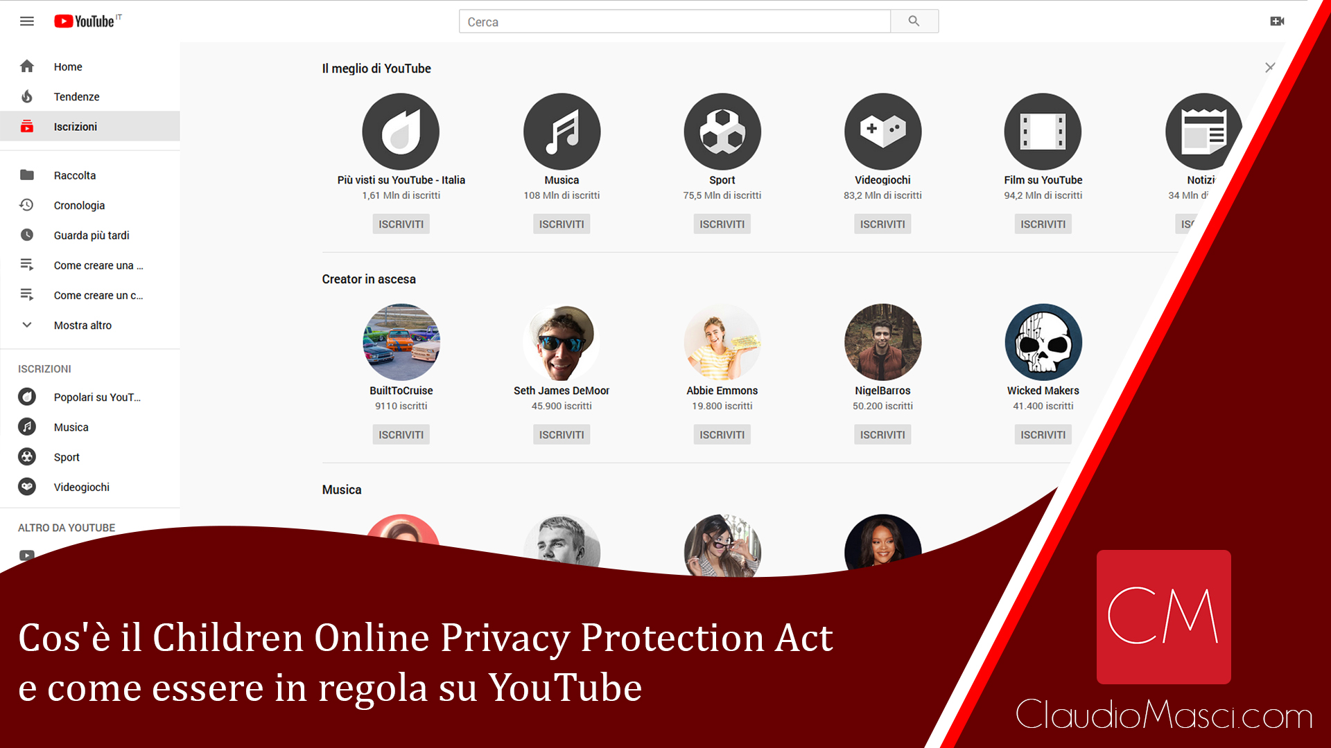 Cos'è il Children Online Privacy Protection Act e come essere in regola su YouTube
