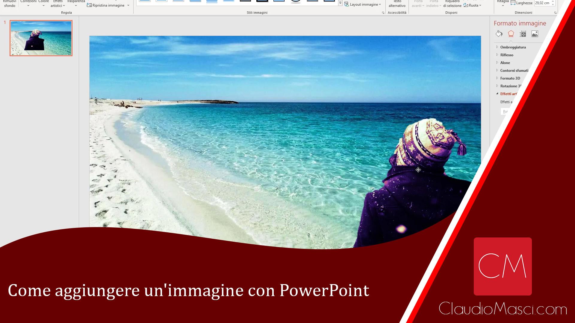 Come aggiungere un'immagine con PowerPoint