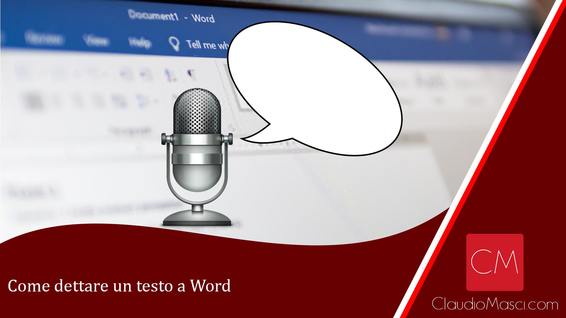 Come dettare un testo a Word