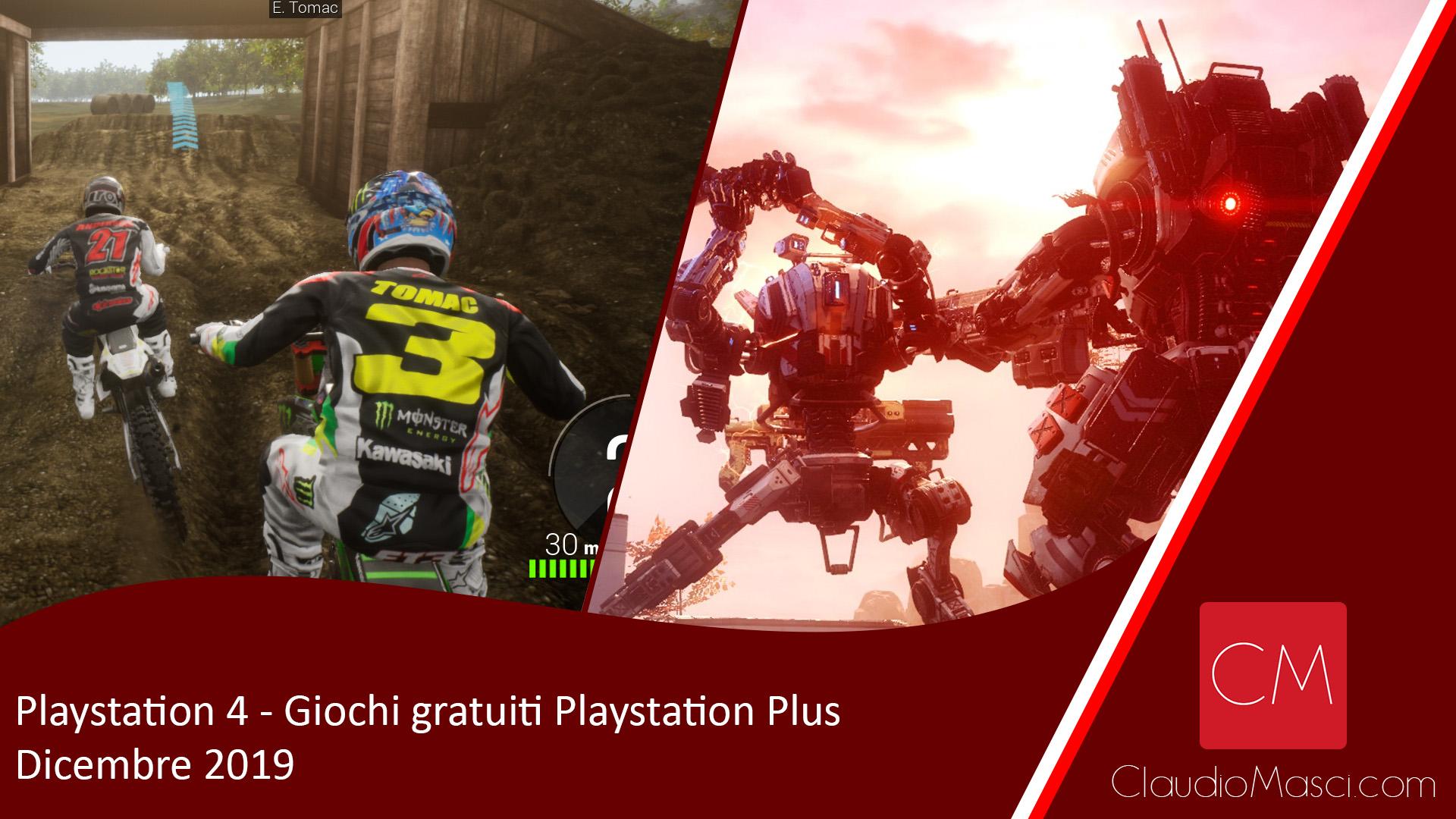 Giochi gratuiti Playstation Plus Dicembre 2019