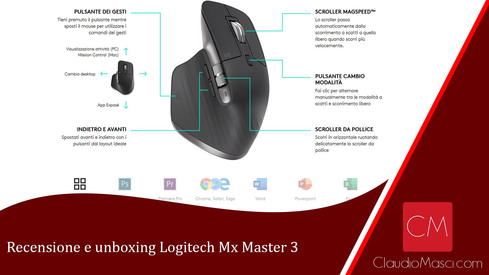 Recensione e Unboxing Logitech Mx Master 3