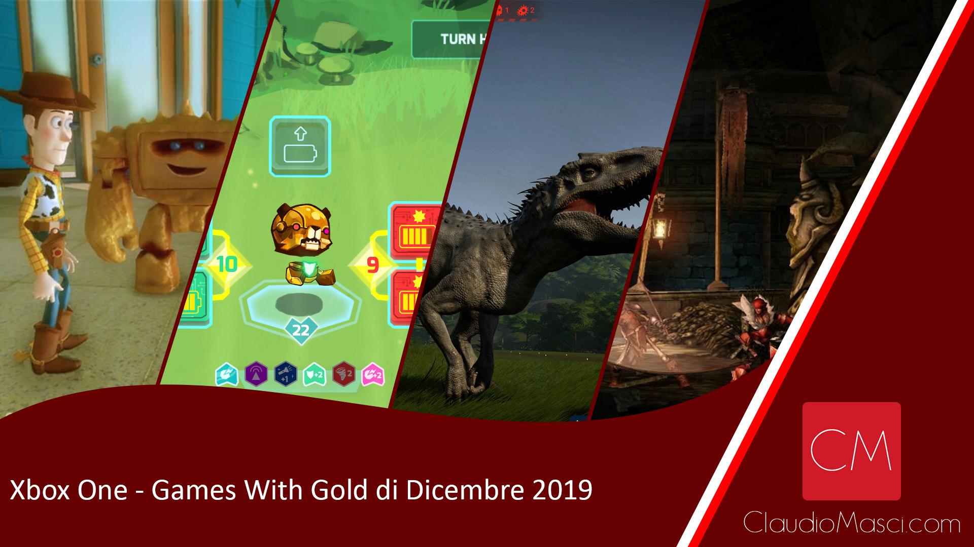 Giochi gratuiti Xbox Games With Gold Dicembre 2019
