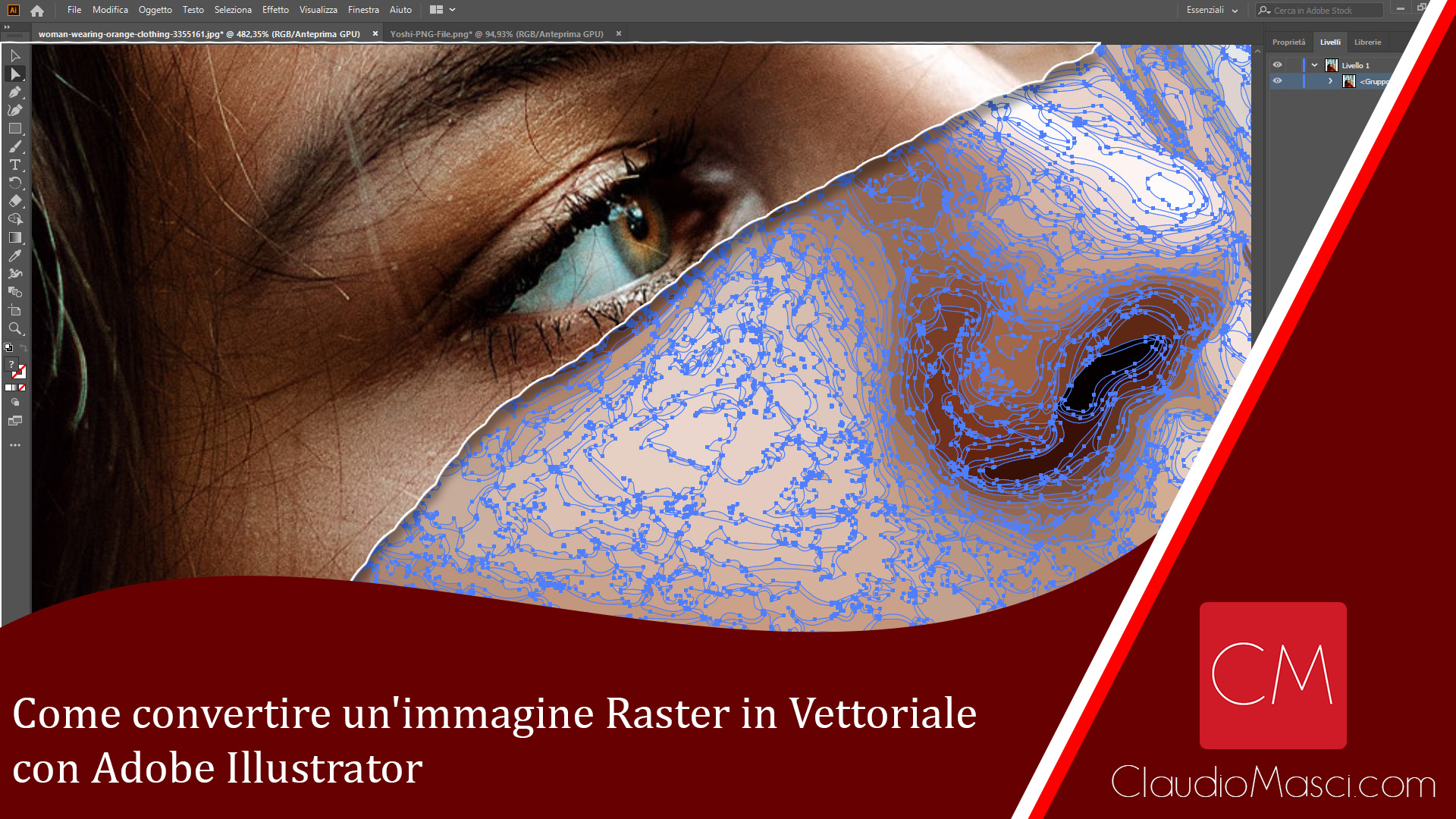 Come convertire un'immagine Raster in Vettoriale con Illustrator