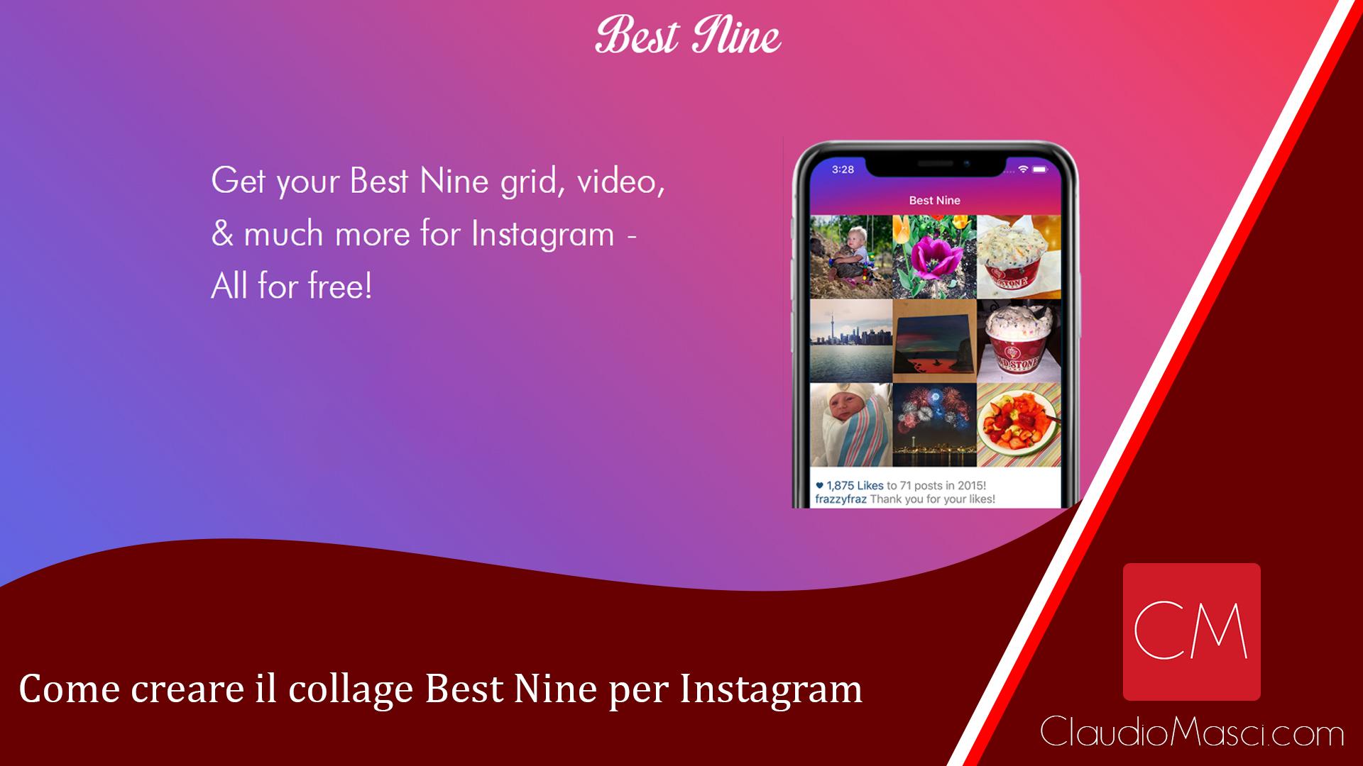 Come creare il collage Best Nine per Instagram