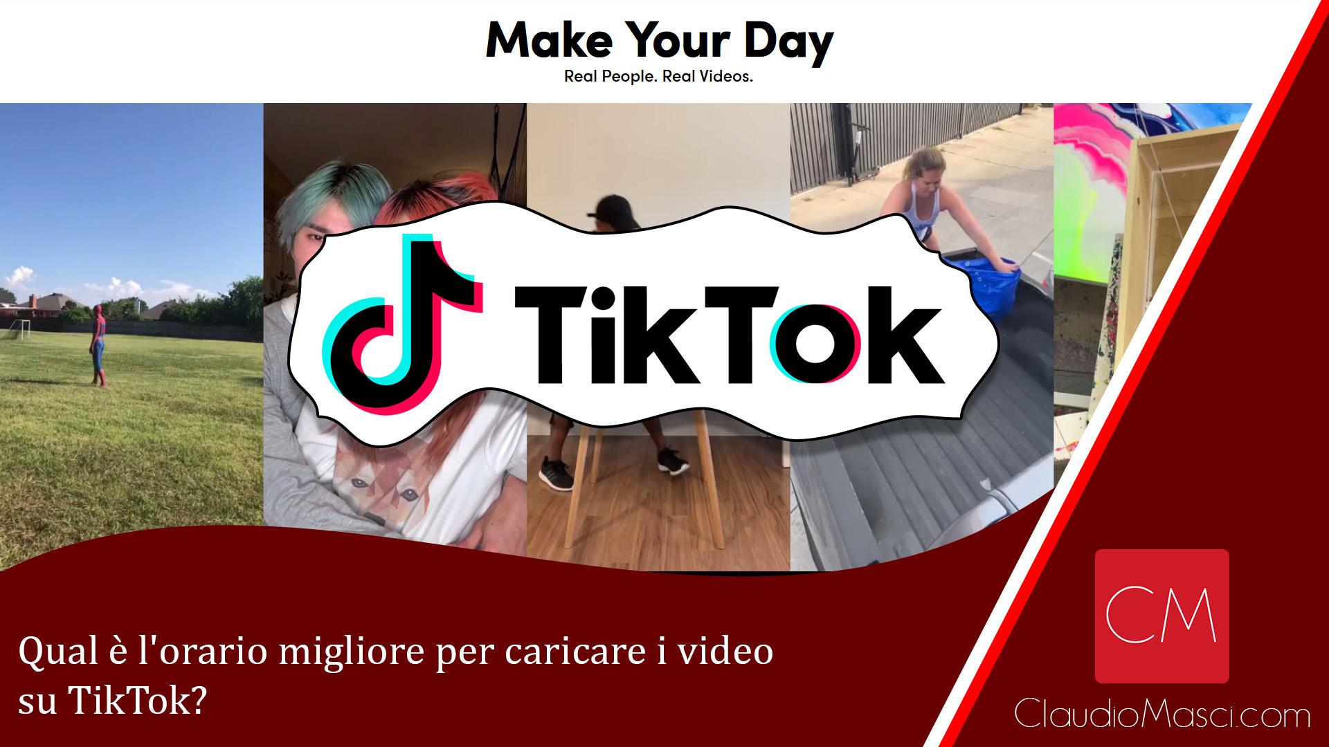 Qual è l'orario migliore per caricare i video su TikTok