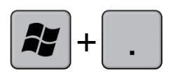 combinazione tasti win e punto