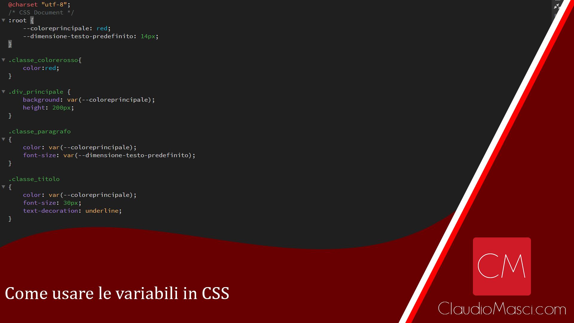 Come usare le variabili in CSS