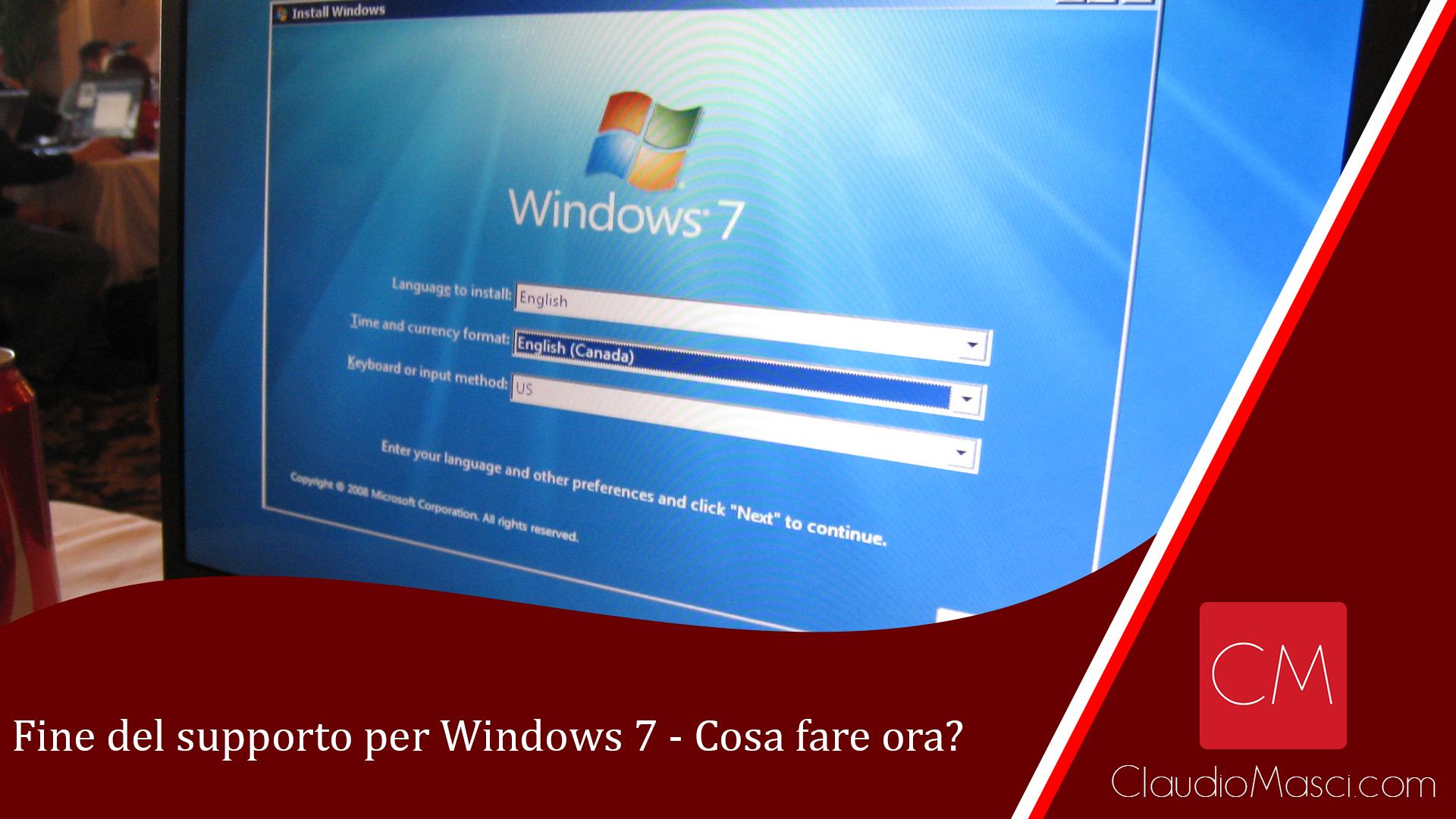 Fine del supporto per Windows 7 – Cosa fare ora?