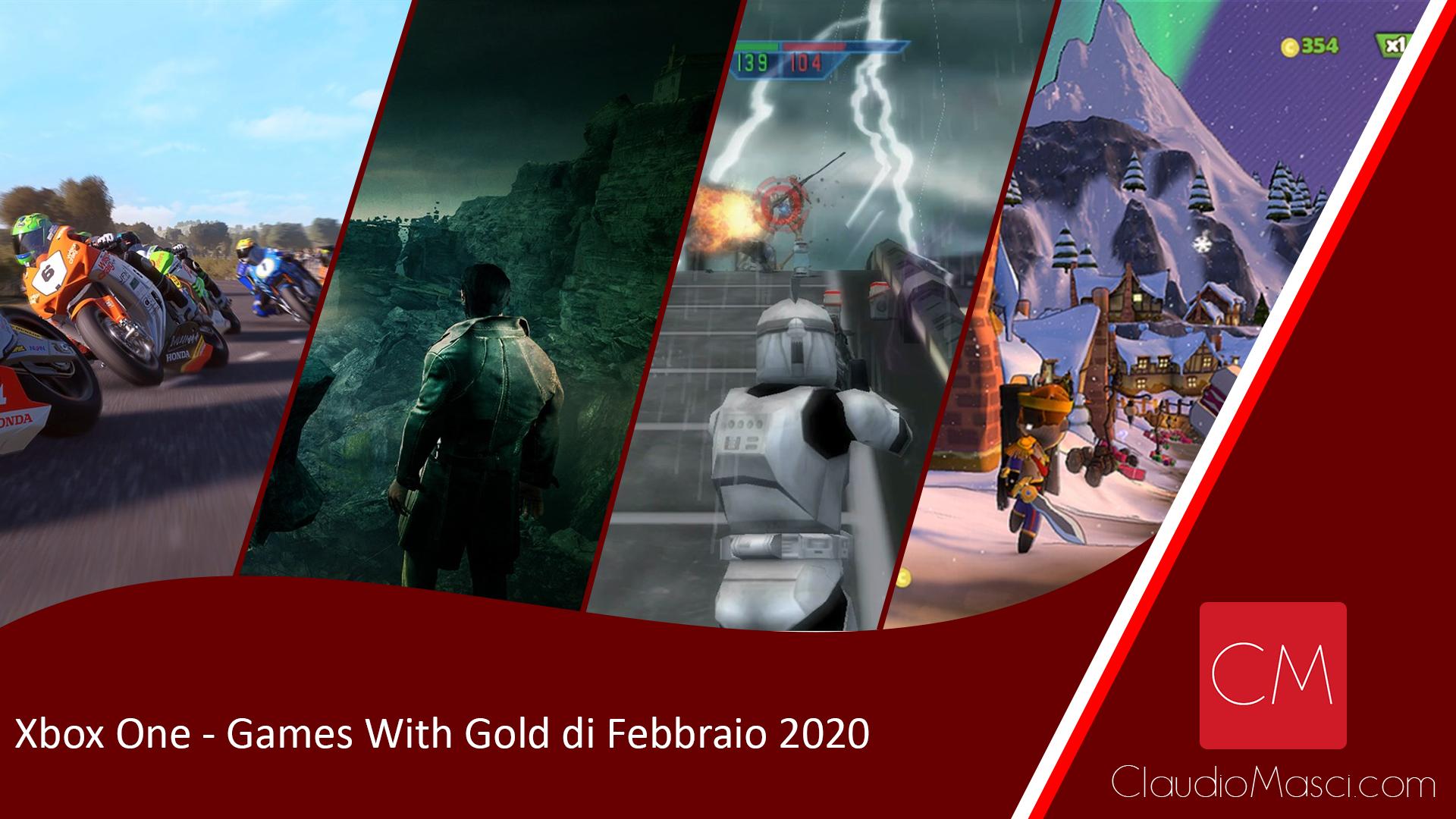Games With Gold di Febbraio 2020