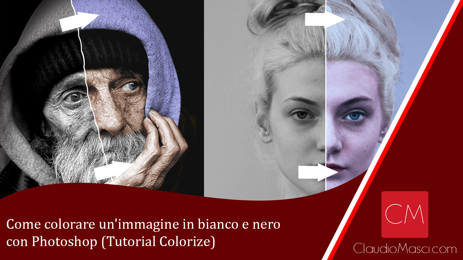 Come colorare un'immagine in bianco e nero con Photoshop (Tutorial Colorize)