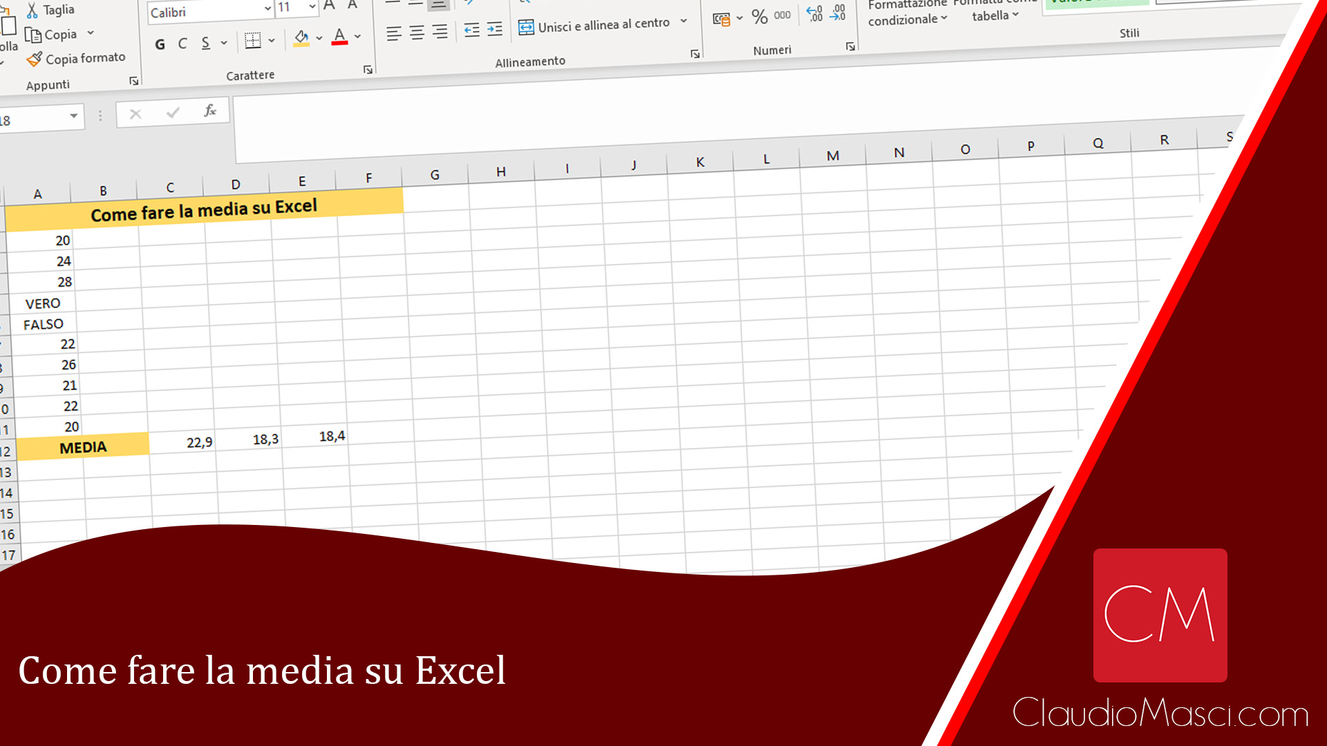 Come fare la media su Excel