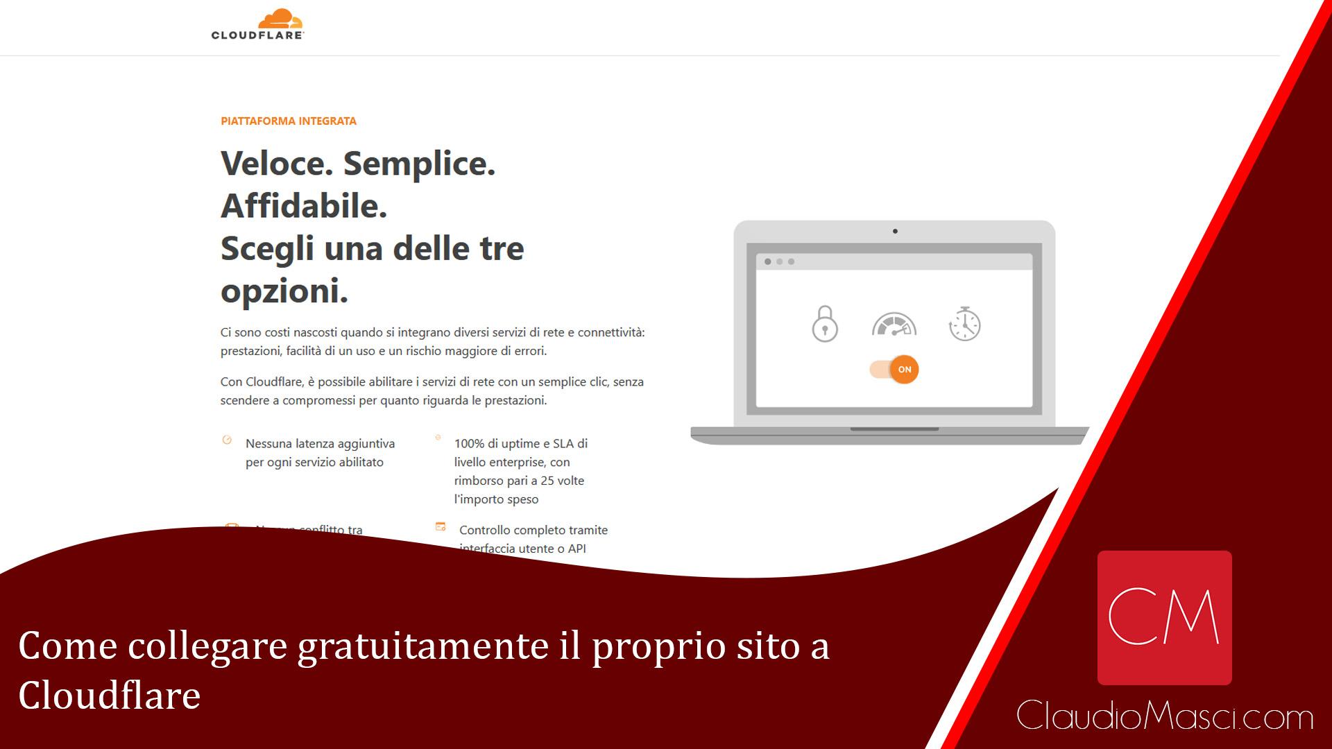 Come collegare gratuitamente il proprio sito a Cloudflare