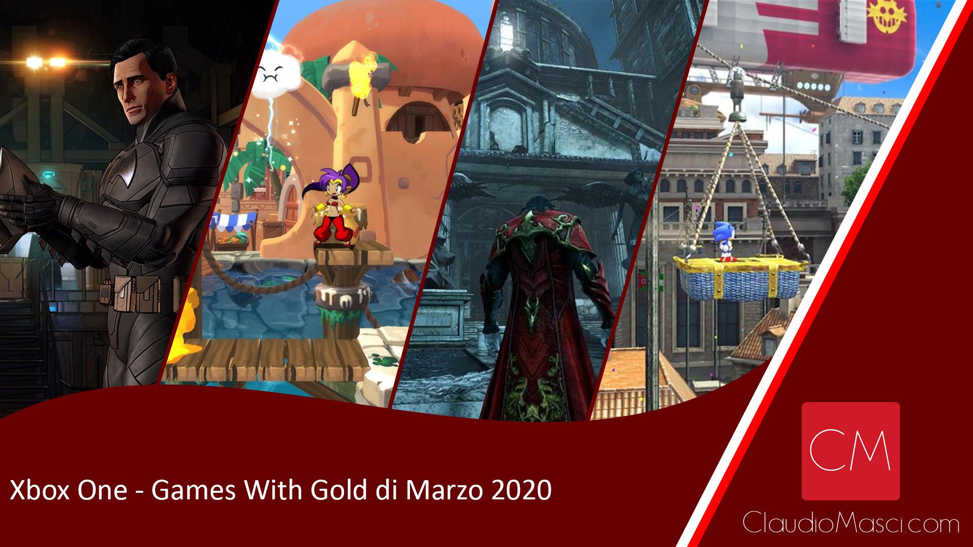 Giochi gratuiti Xbox – Games With Gold Marzo 2020