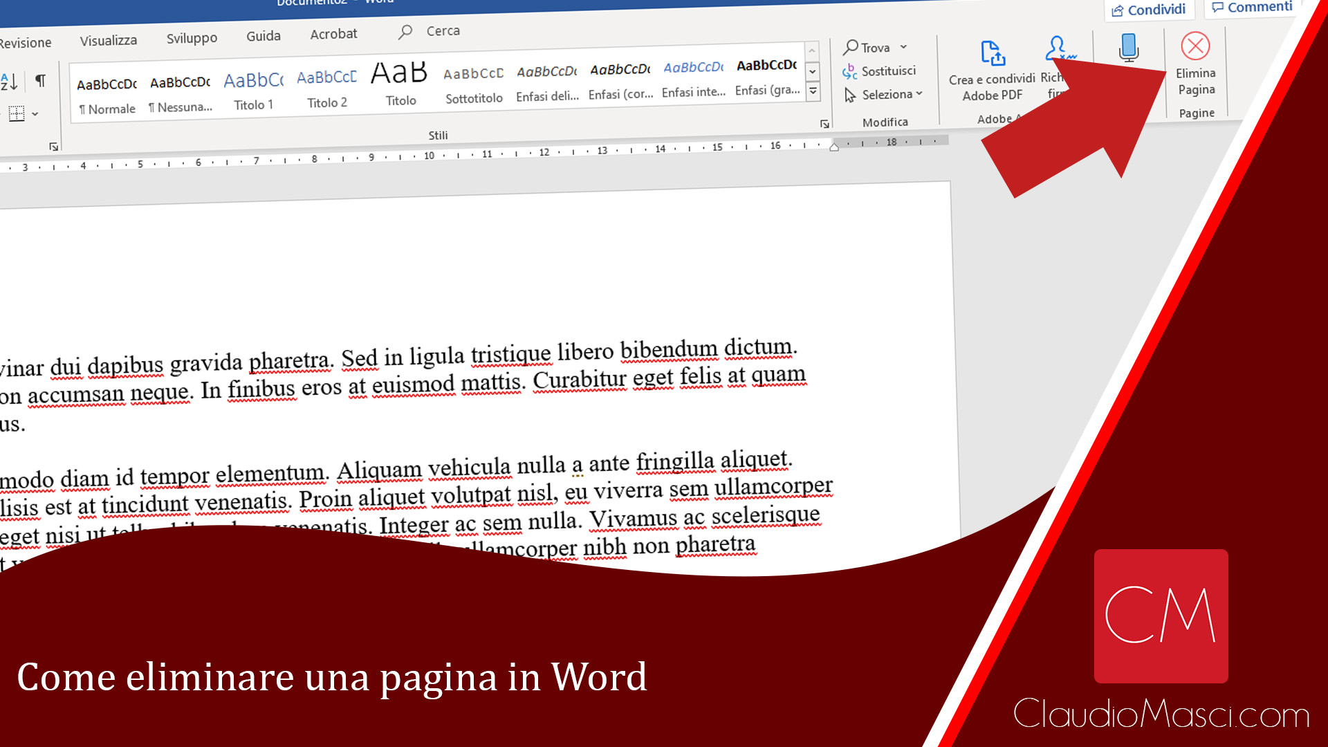 Come eliminare una pagina in Word