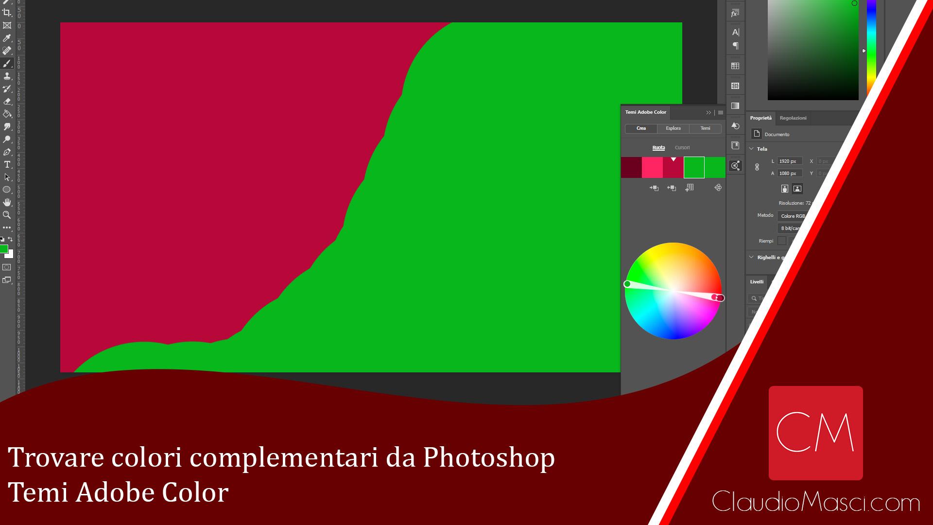 Trovare colori complementari da Photoshop – Temi Adobe Color