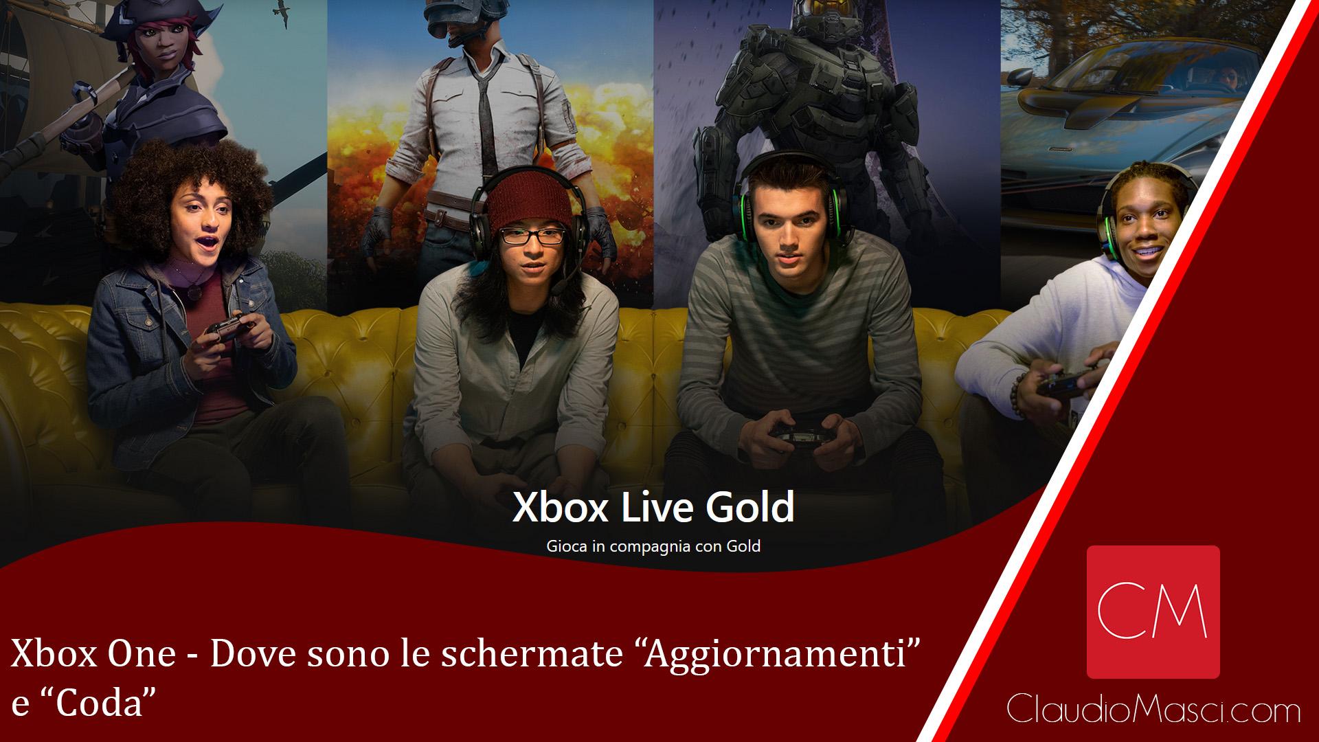 Xbox One – Dove sono Aggiornamenti e Coda