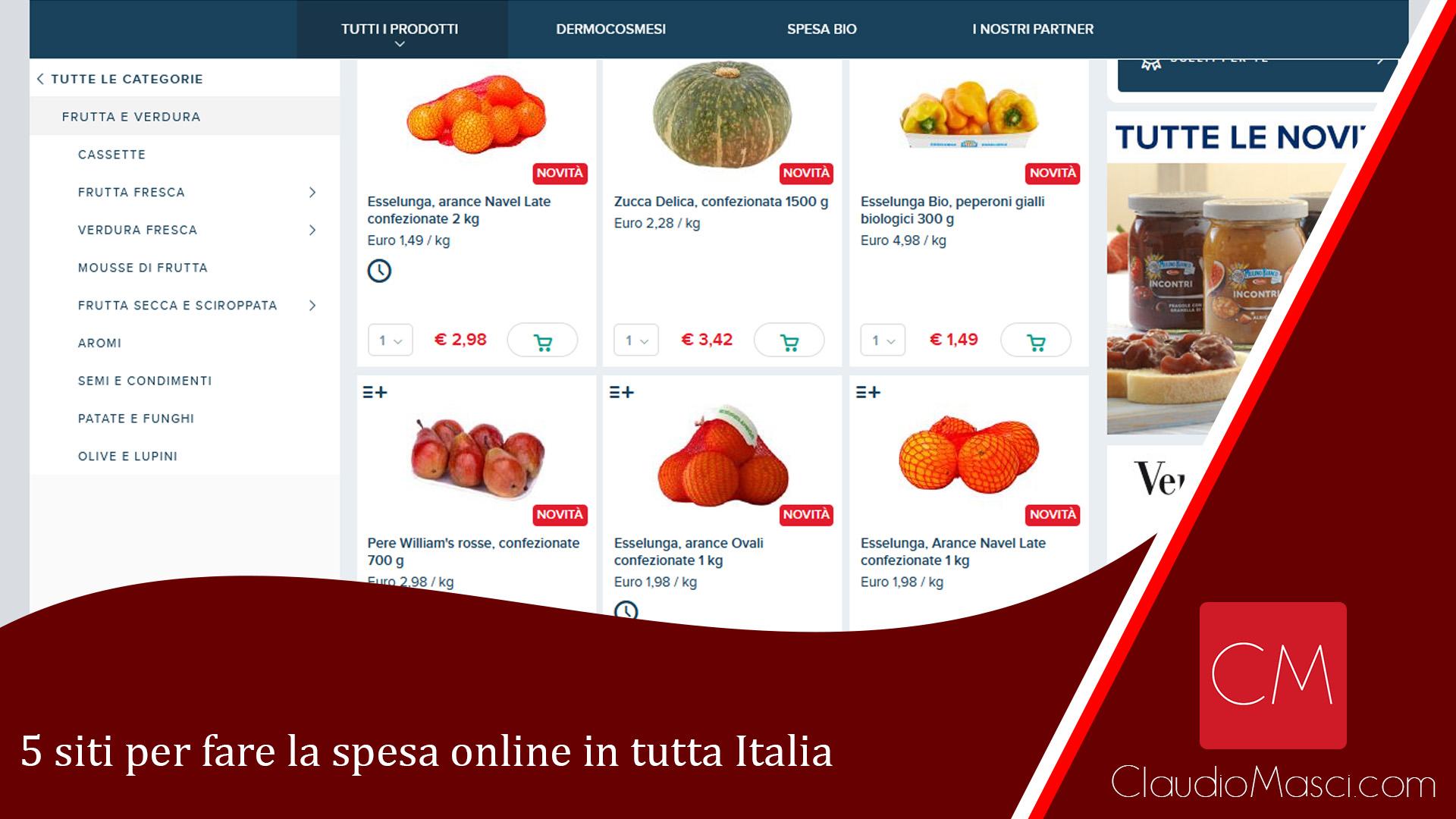 5 siti per fare la spesa online in tutta Italia