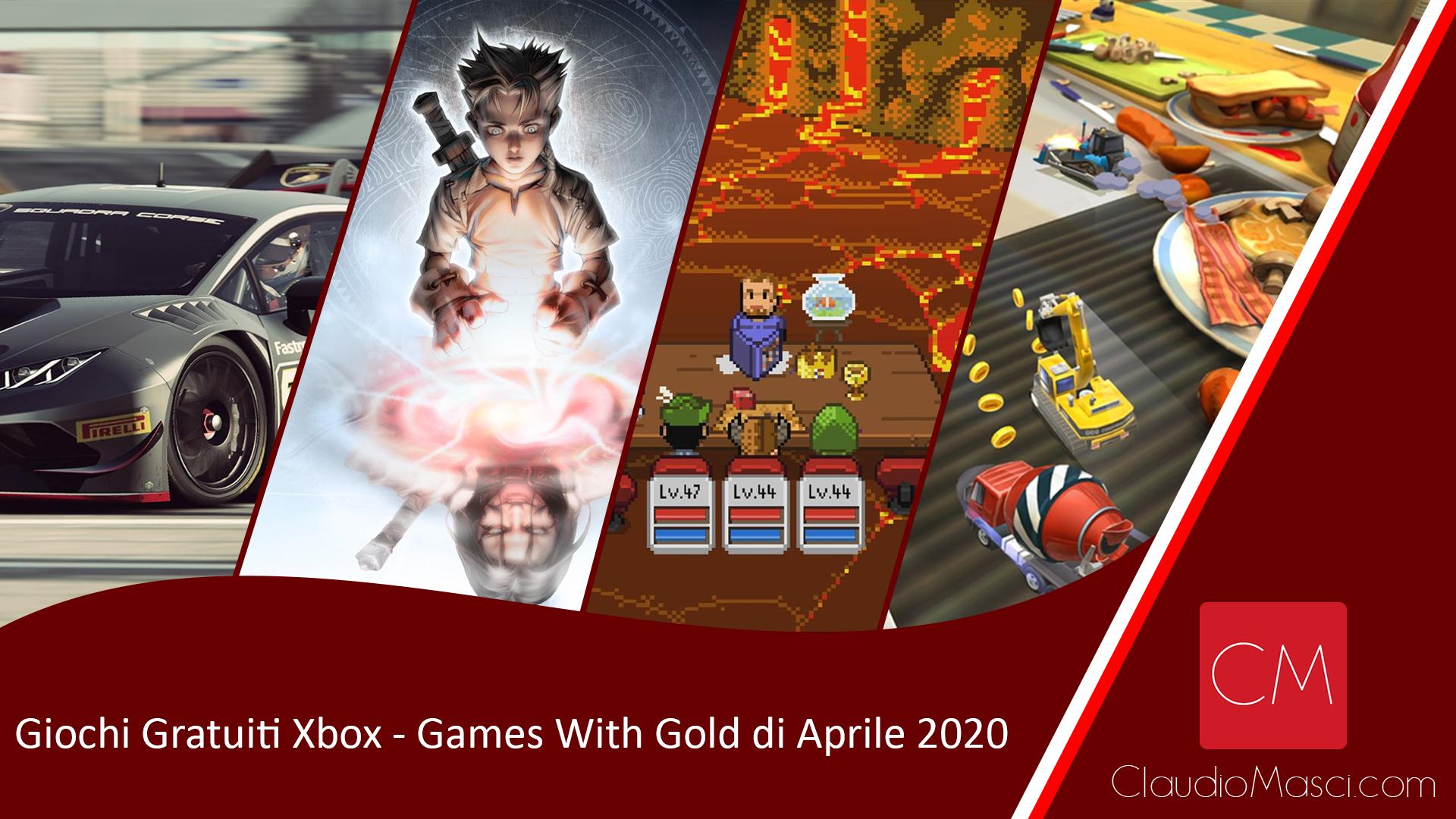 Giochi gratuiti Xbox – Games With Gold Aprile 2020