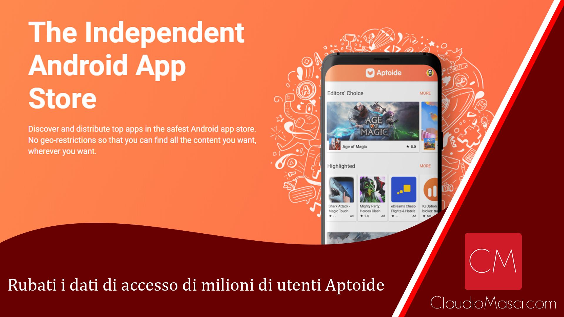Rubati i dati di accesso di milioni di utenti Aptoide