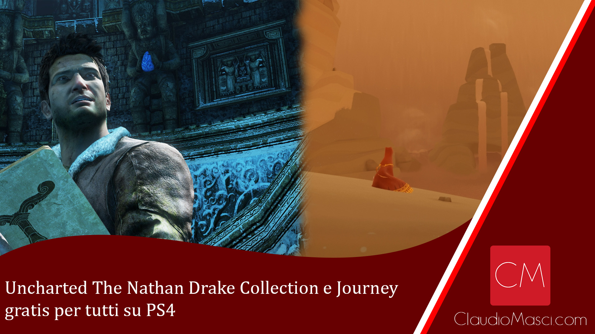 Uncharted The Nathan Drake Collection e Journey gratis per tutti su PS4