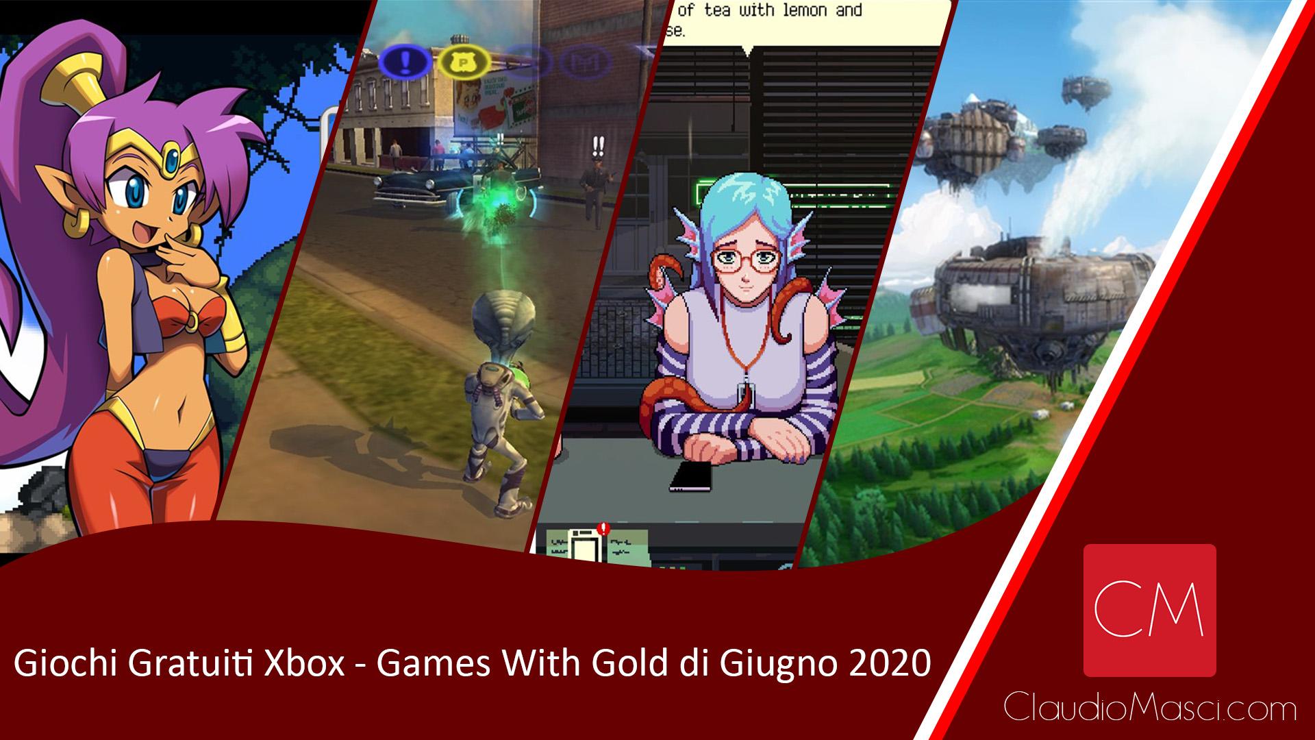 Giochi gratuiti Games With Gold Giugno 2020