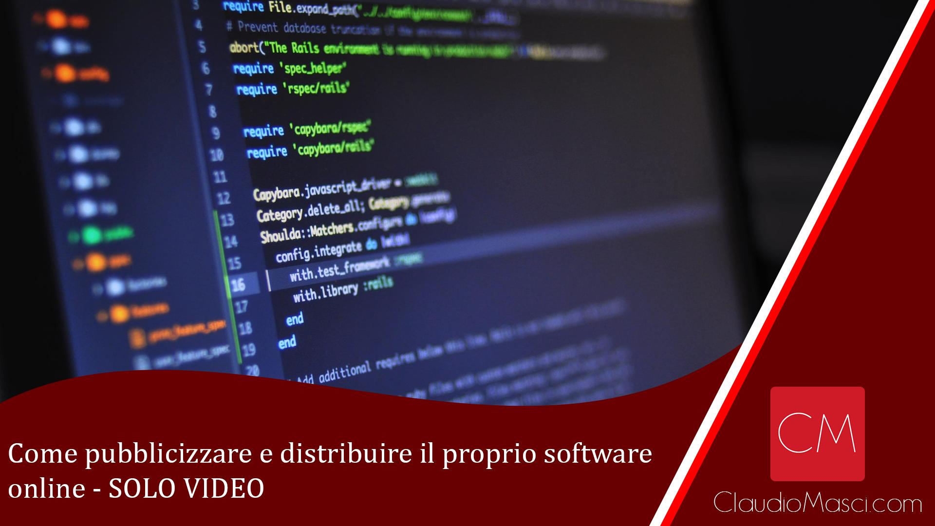 Come pubblicizzare e distribuire il proprio software online – SOLO VIDEO