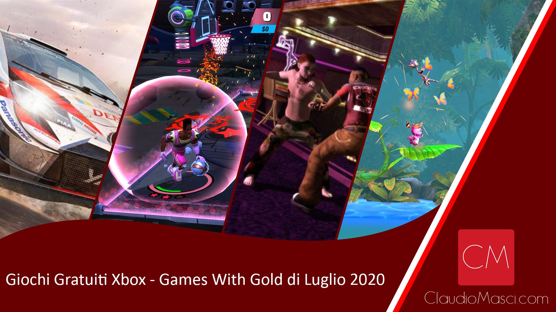 Giochi gratuiti Games With Gold Luglio 2020