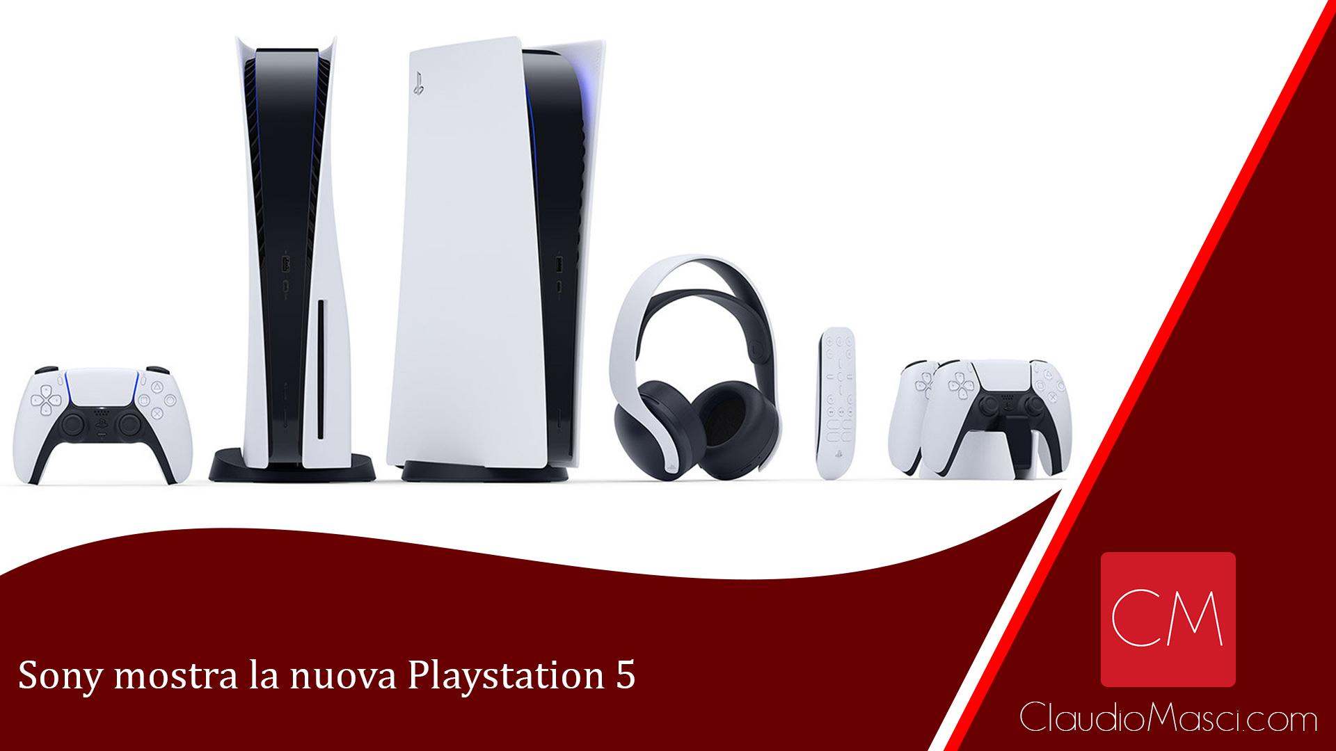 Sony mostra la nuova Playstation 5