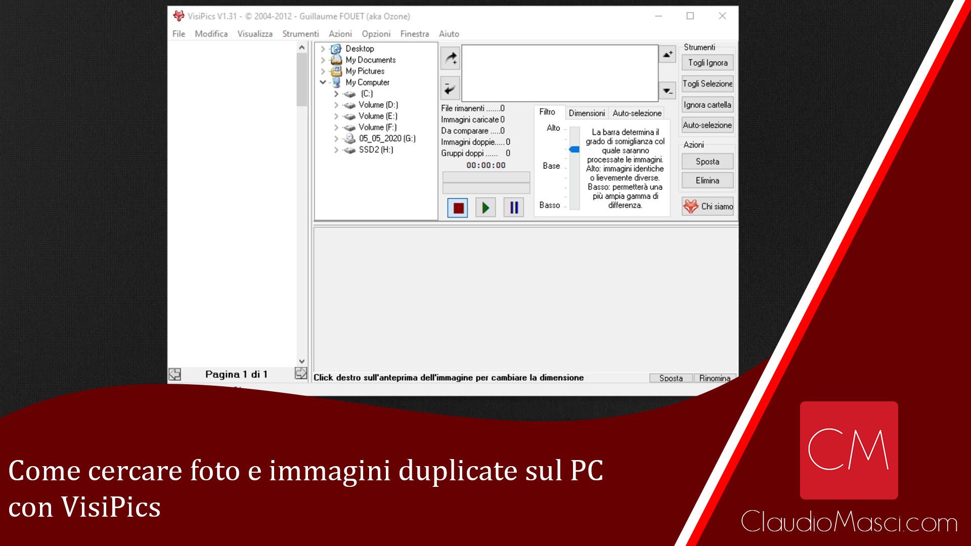 Come cercare foto e immagini duplicate sul PC con VisiPics