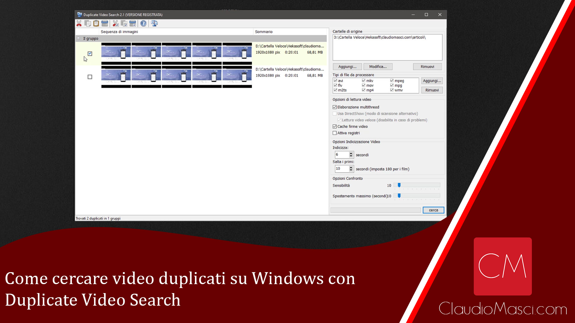 Come cercare video duplicati su Windows con Duplicate Video Search