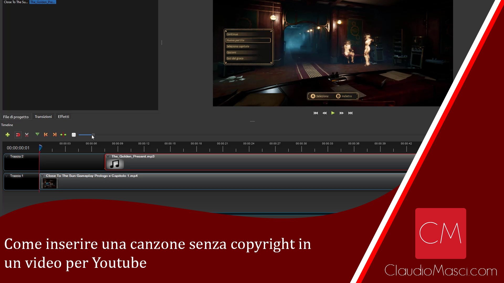 Come inserire una canzone senza copyright in un video per Youtube