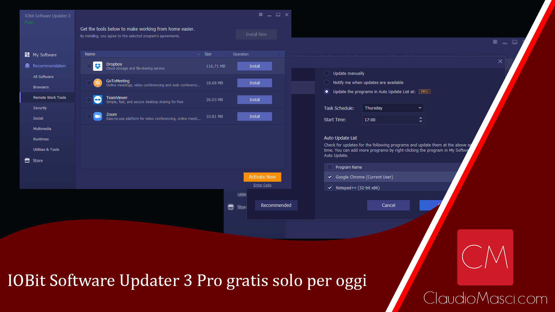 IOBit Software Updater 3 Pro gratis solo per oggi