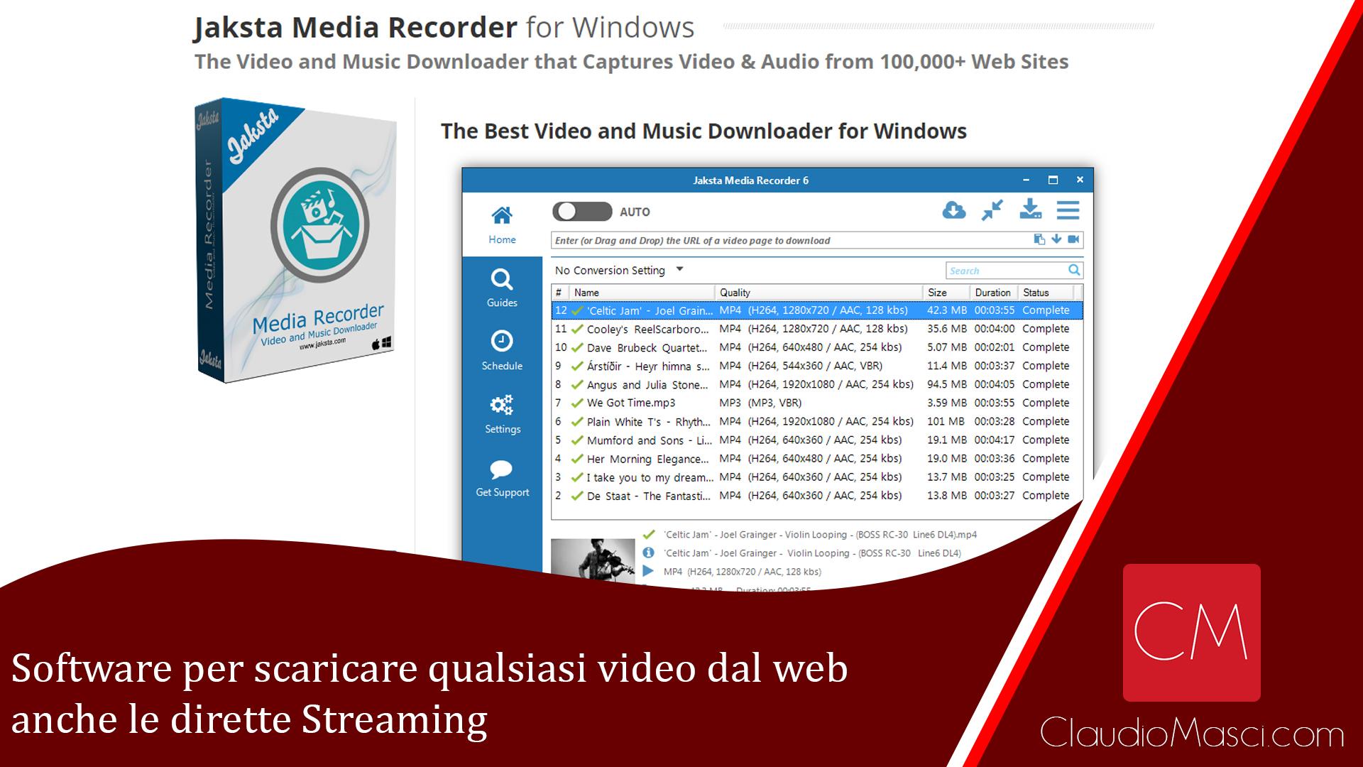 Software per scaricare qualsiasi video dal web anche le dirette Streaming