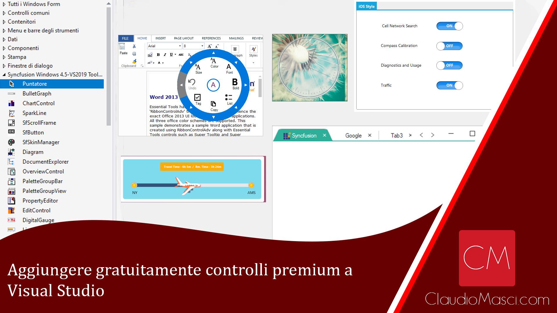 Aggiungere gratuitamente controlli premium a Visual Studio