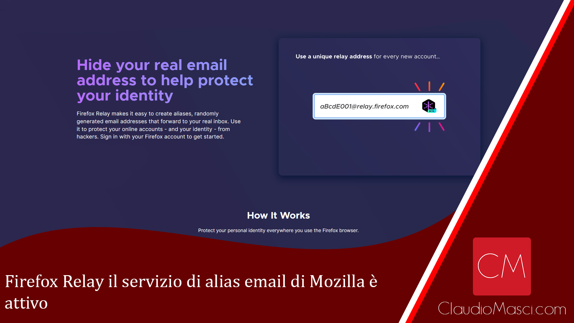 Firefox Relay il servizio di alias email di Mozilla è attivo