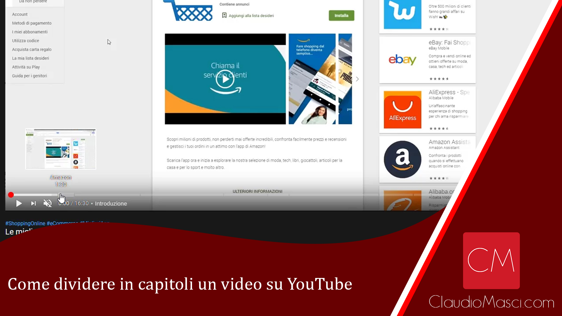 Come dividere in capitoli un video su YouTube
