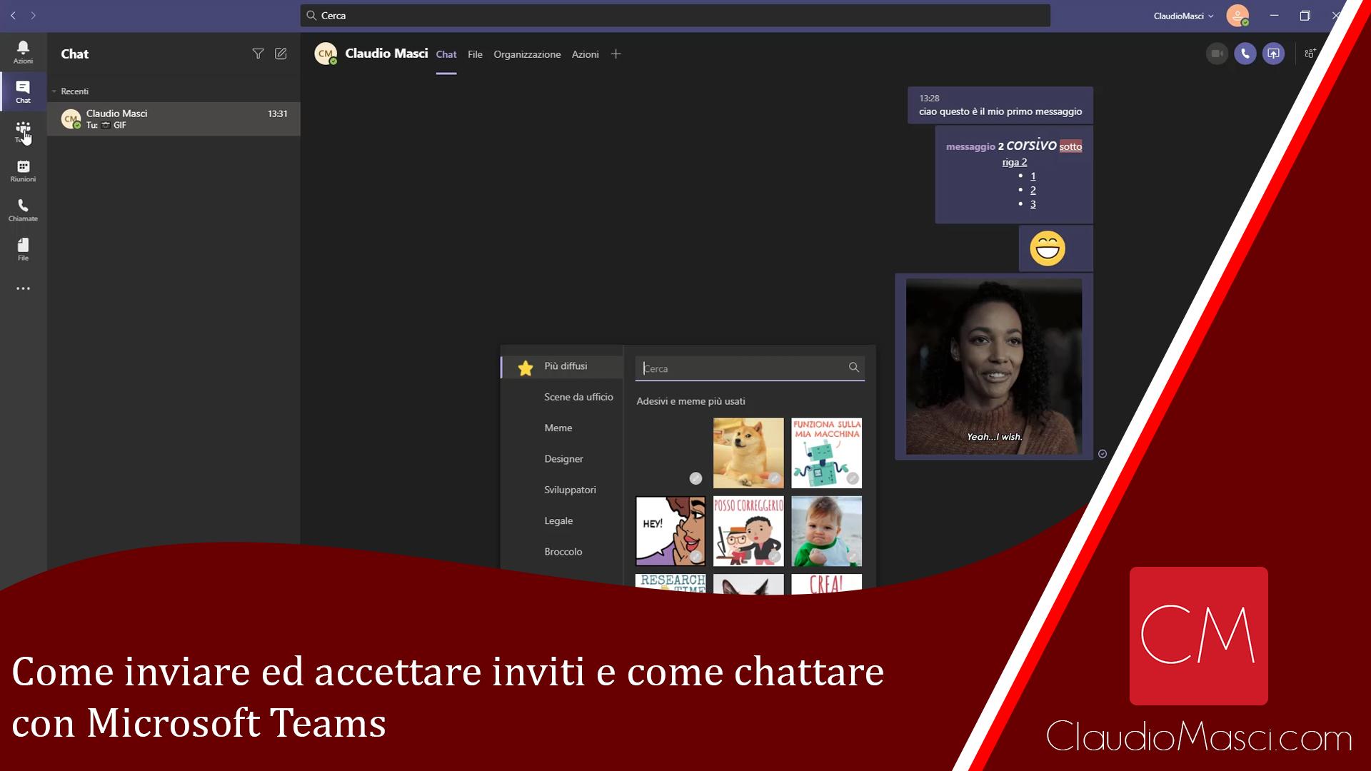 Come inviare ed accettare inviti e come chattare con Microsoft Teams