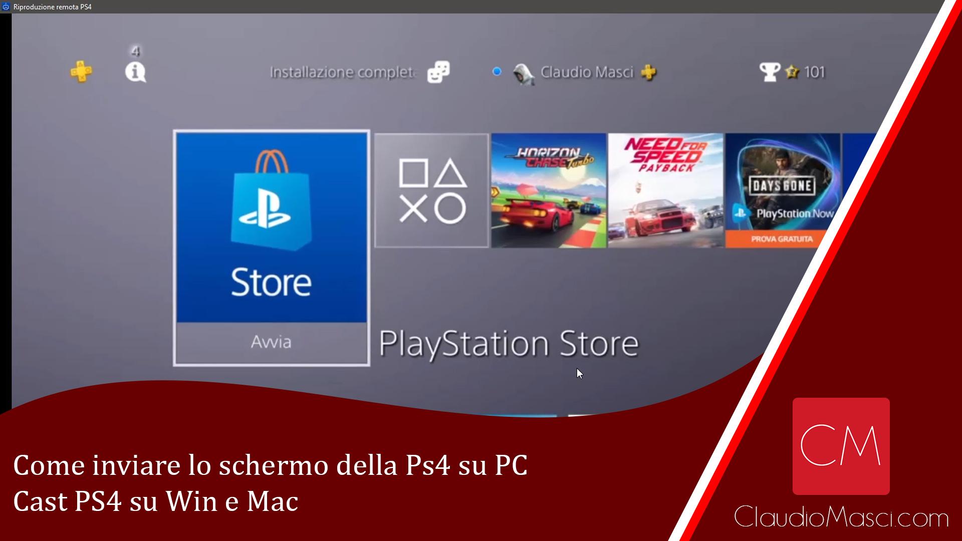 Come inviare lo schermo della Ps4 su PC | Cast PS4 su Win e Mac