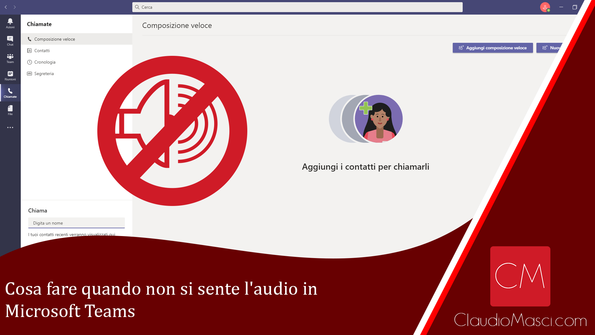 Cosa fare quando non si sente l'audio in Microsoft Teams