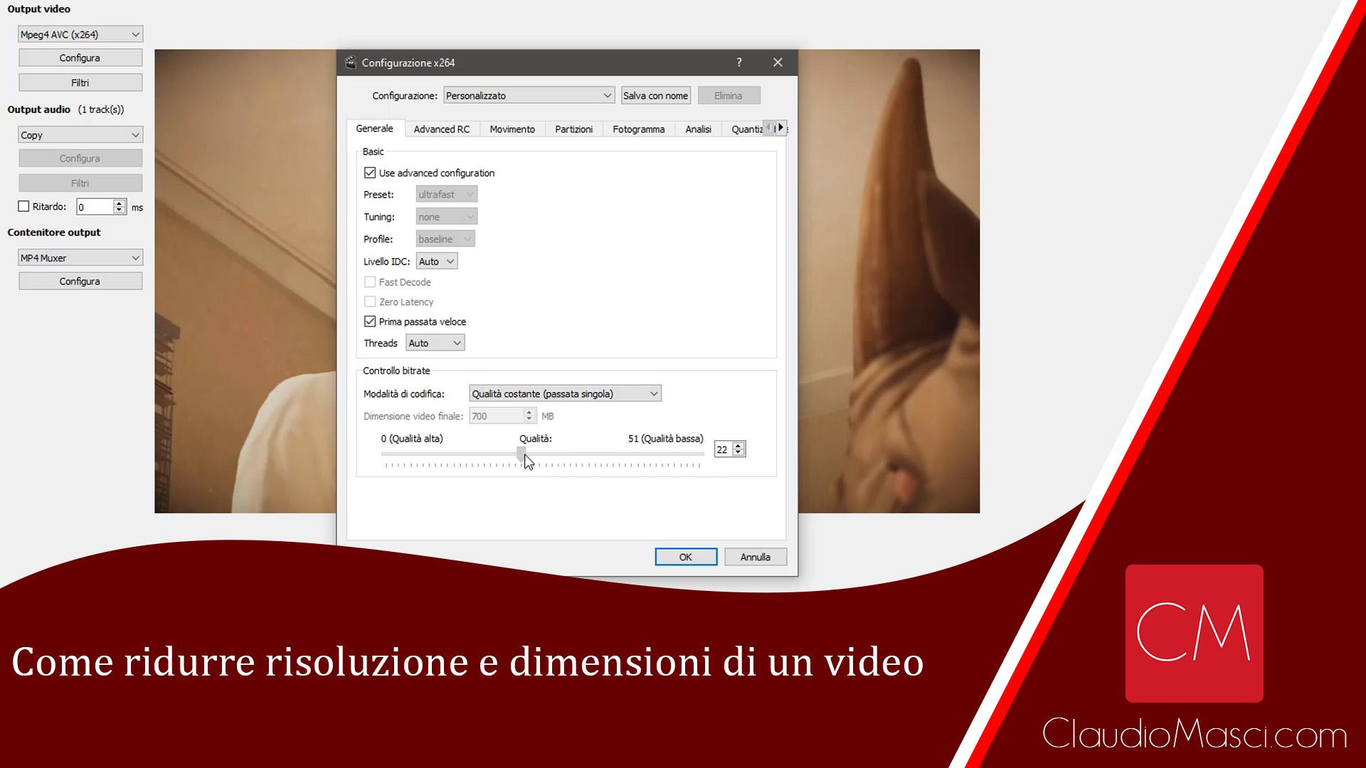 Come ridurre risoluzione e dimensioni di un file video