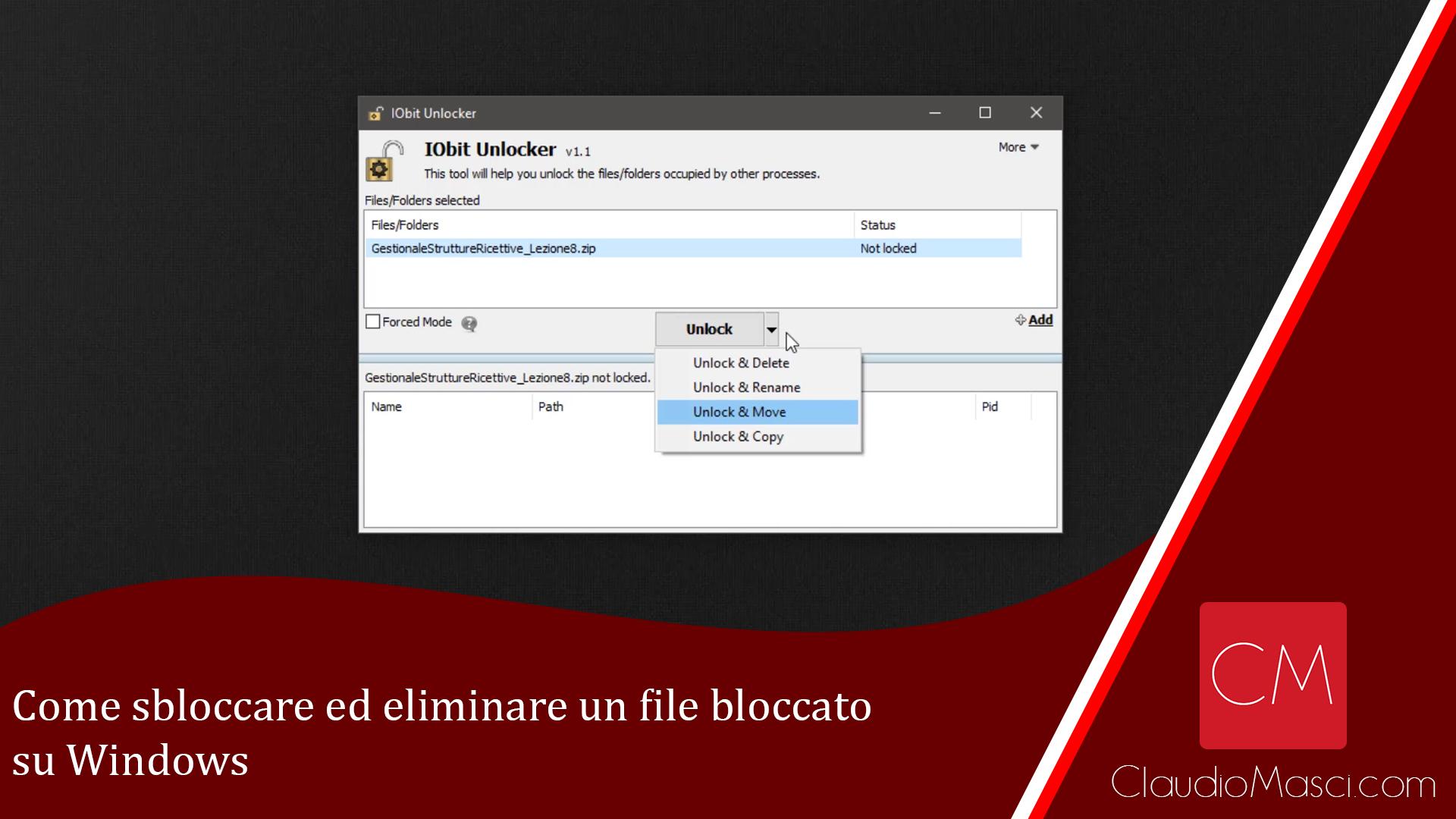 Come sbloccare ed eliminare un file bloccato su Windows