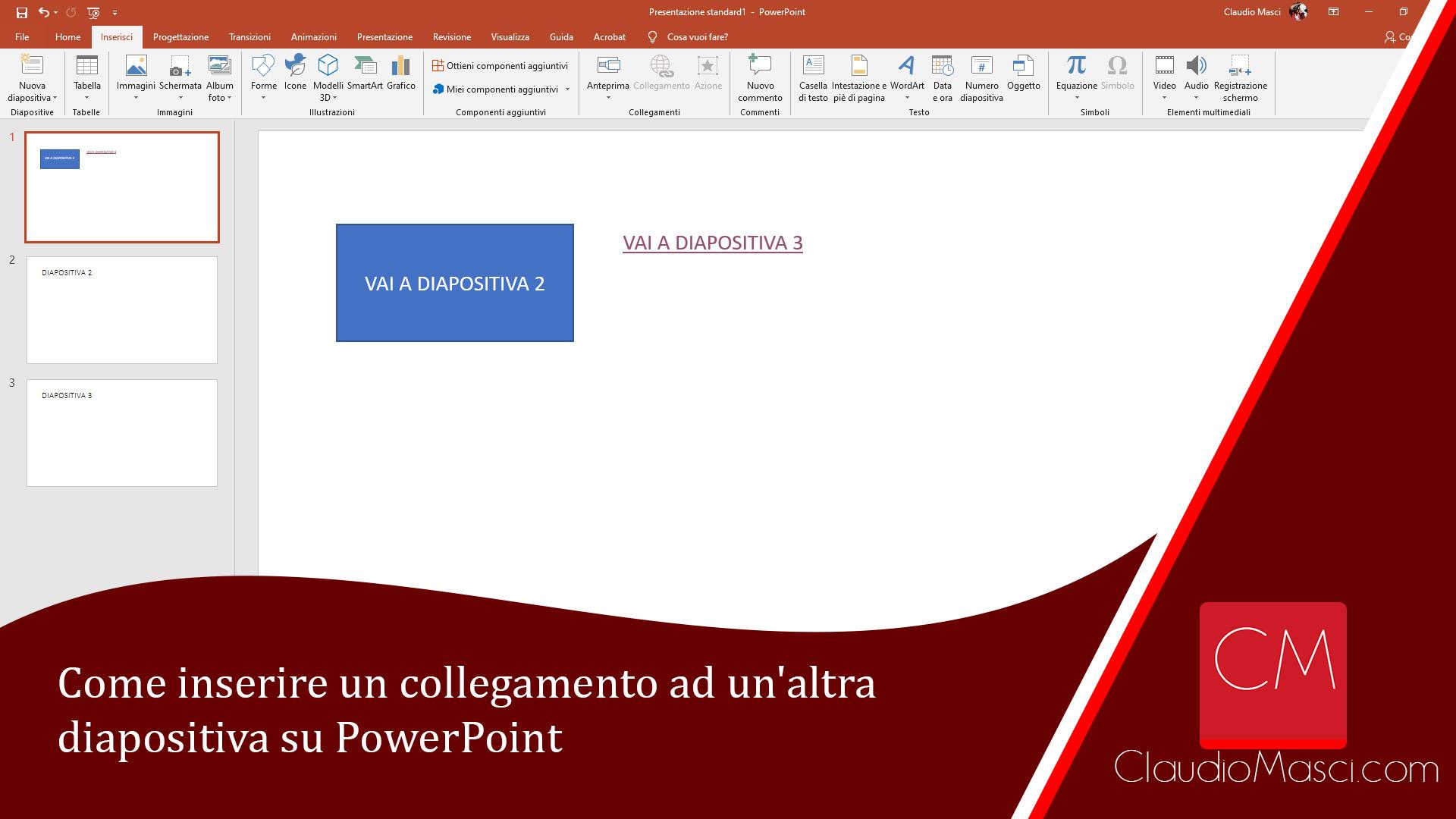 Come inserire un collegamento ad un'altra diapositiva su PowerPoint