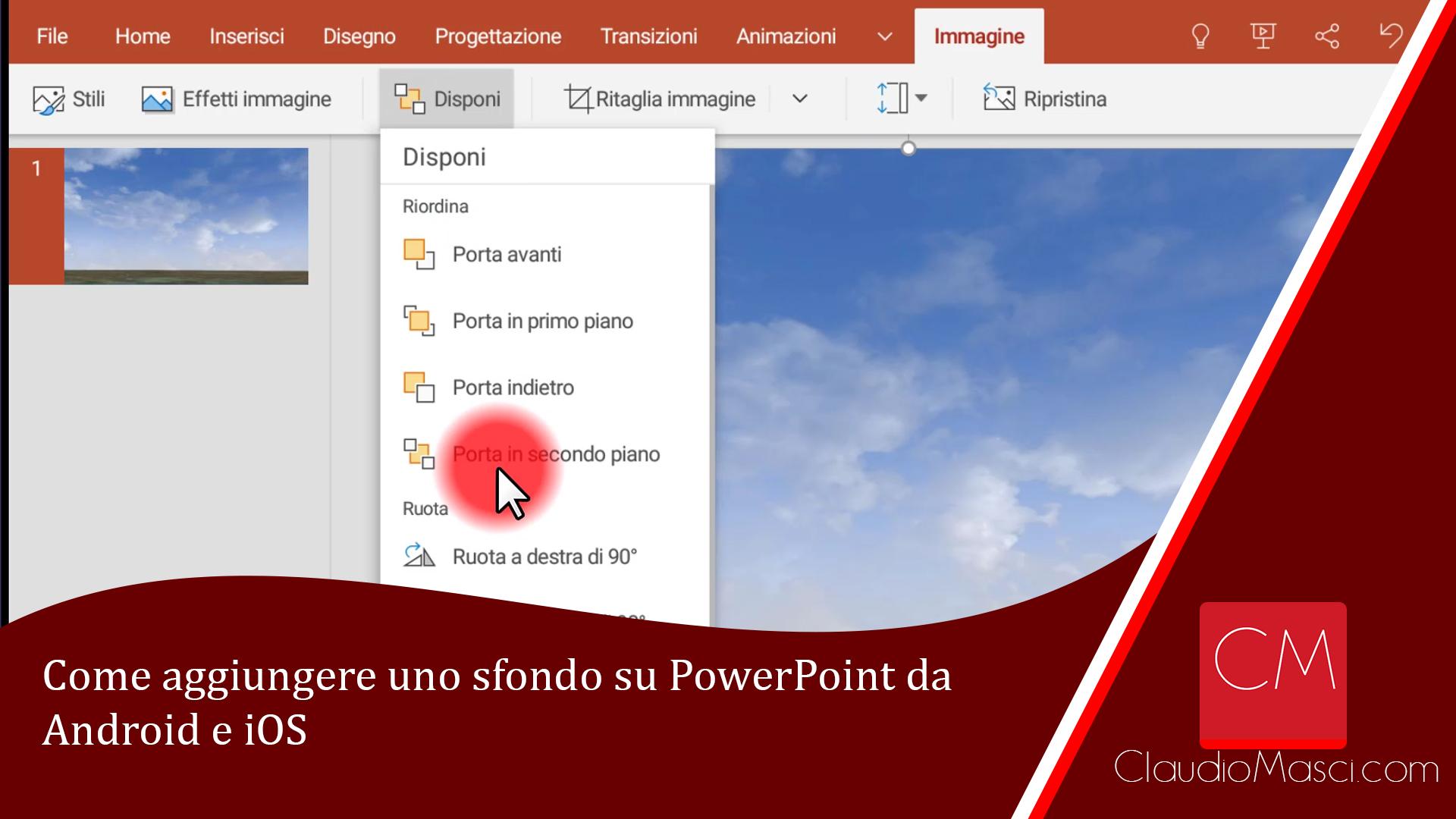 Come aggiungere uno sfondo su PowerPoint da Android e iOS