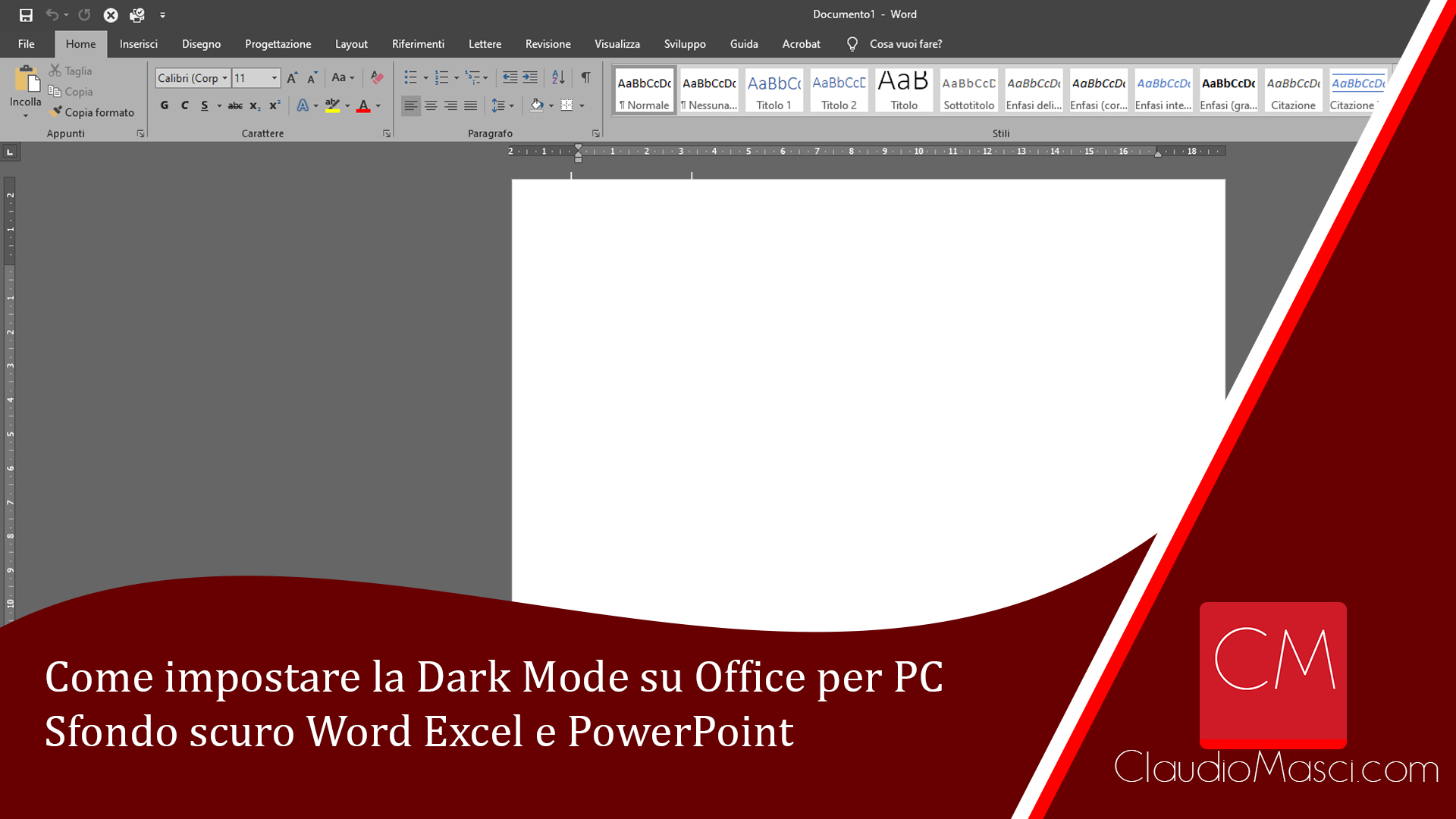 Come impostare la Dark Mode su Office per PC – Sfondo scuro Word Excel e PowerPoint