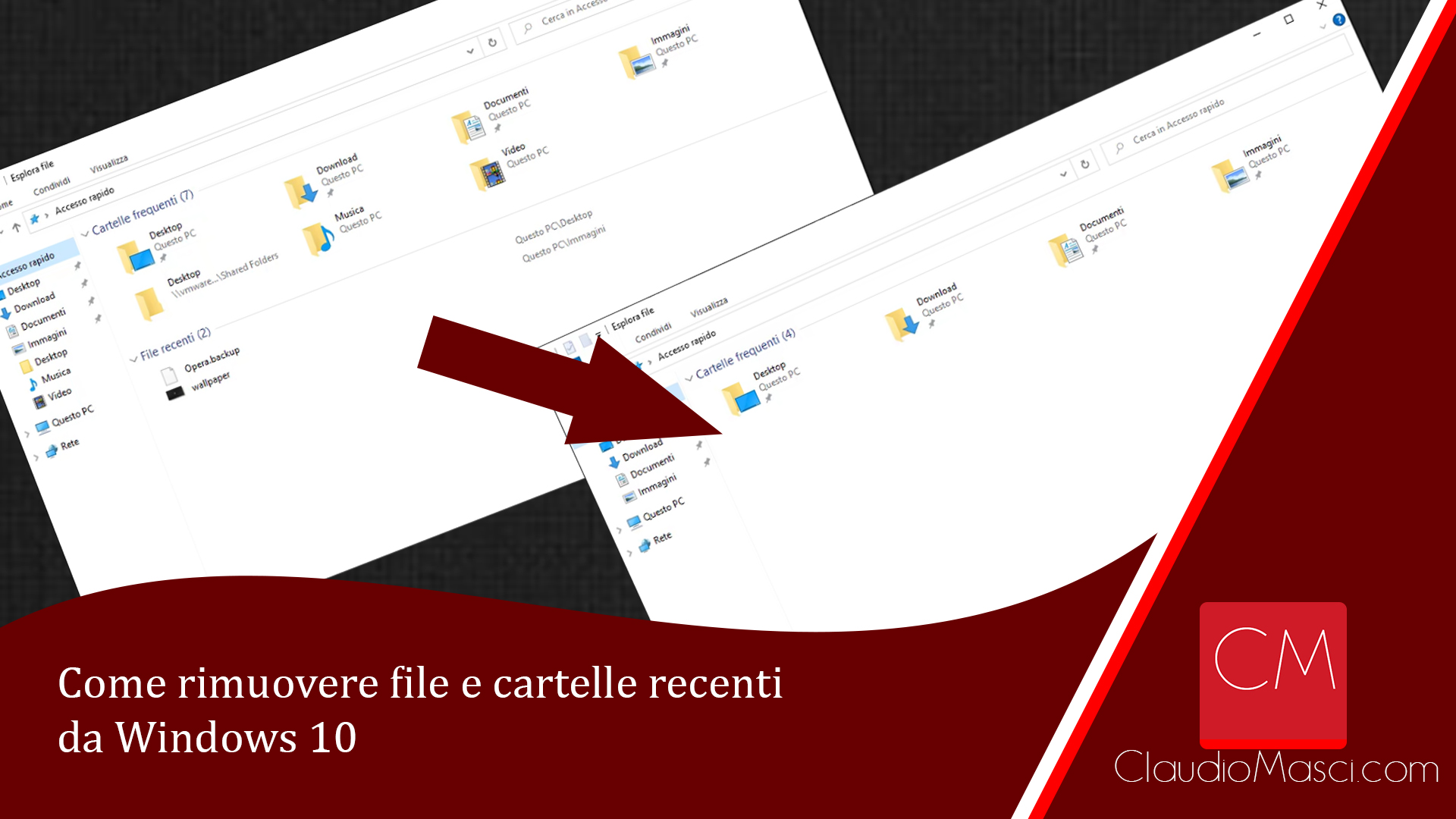 Come rimuovere file e cartelle recenti da Windows 10