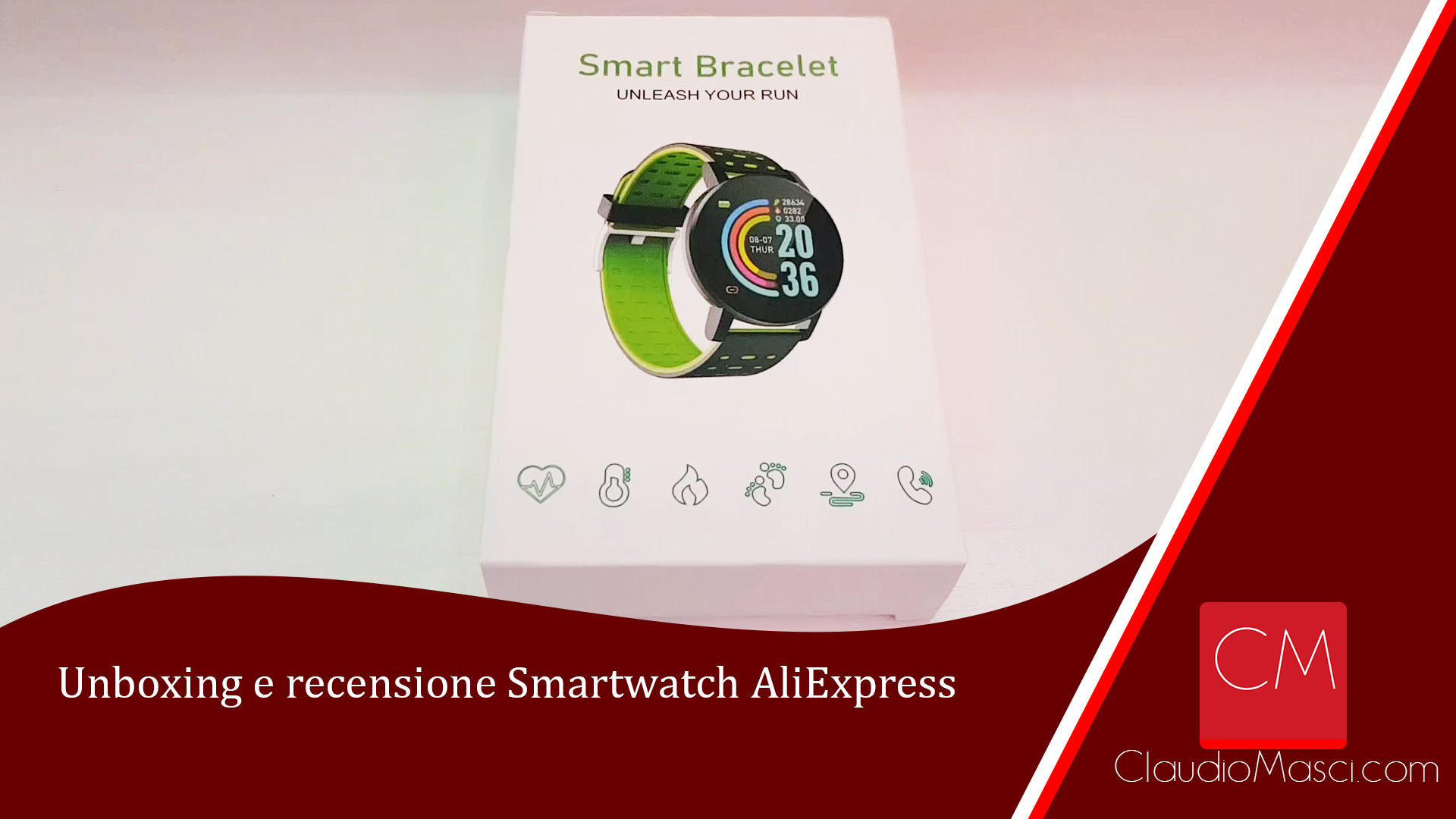 Unboxing e recensione Smartwatch AliExpress