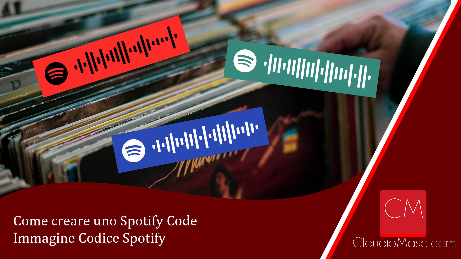 Come creare uno Spotify Code – Immagine Codice Spotify
