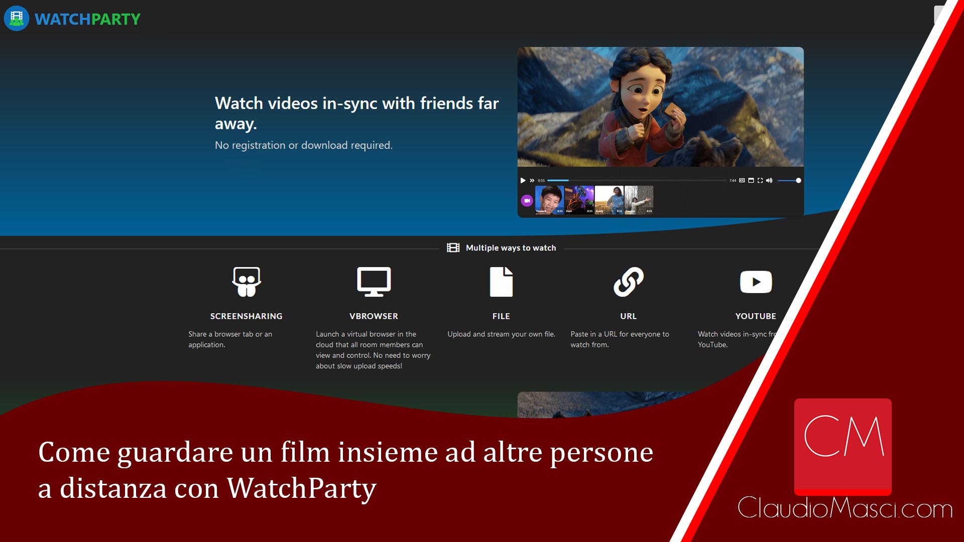 Come guardare un film insieme ad altre persone a distanza con WatchParty